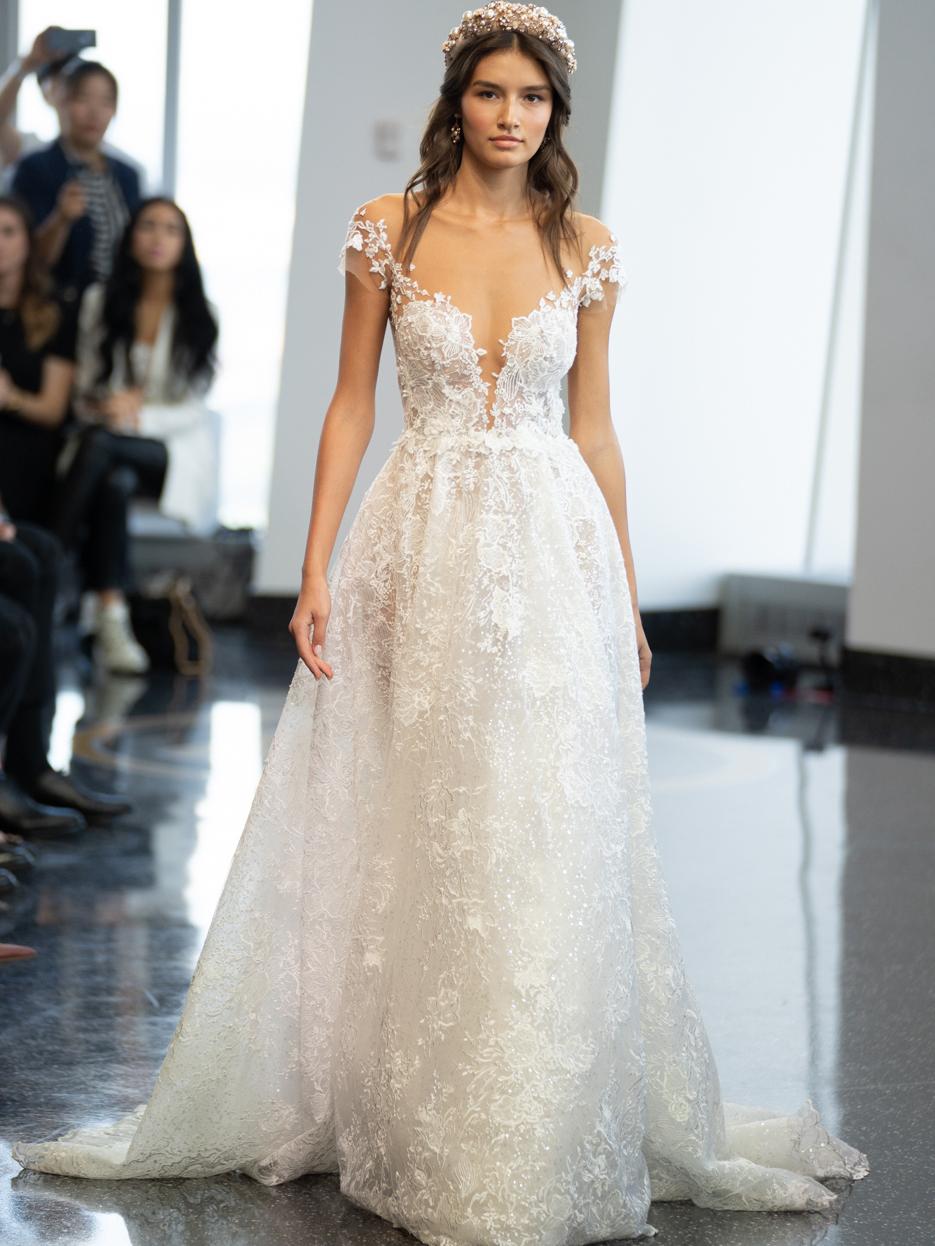 berta off the shoulder a line wedding dress fall 2020