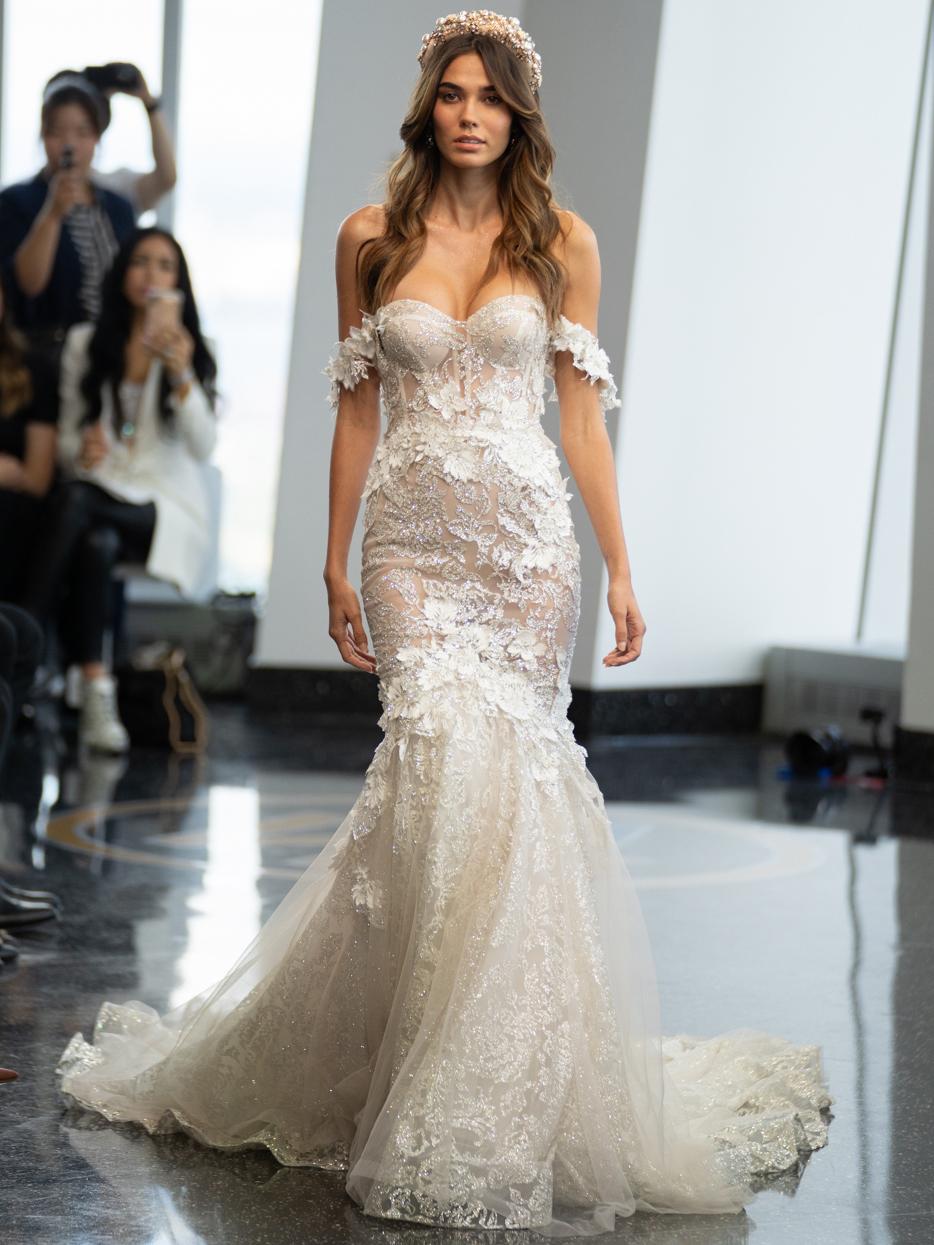 berta exposed boning mermaid wedding dress fall 2020