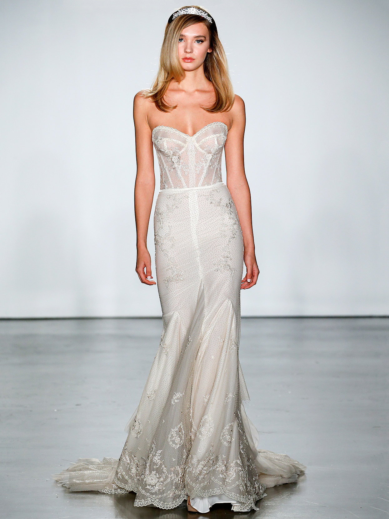 Inbal Dror strapless structured bodice wedding dress fall 2020