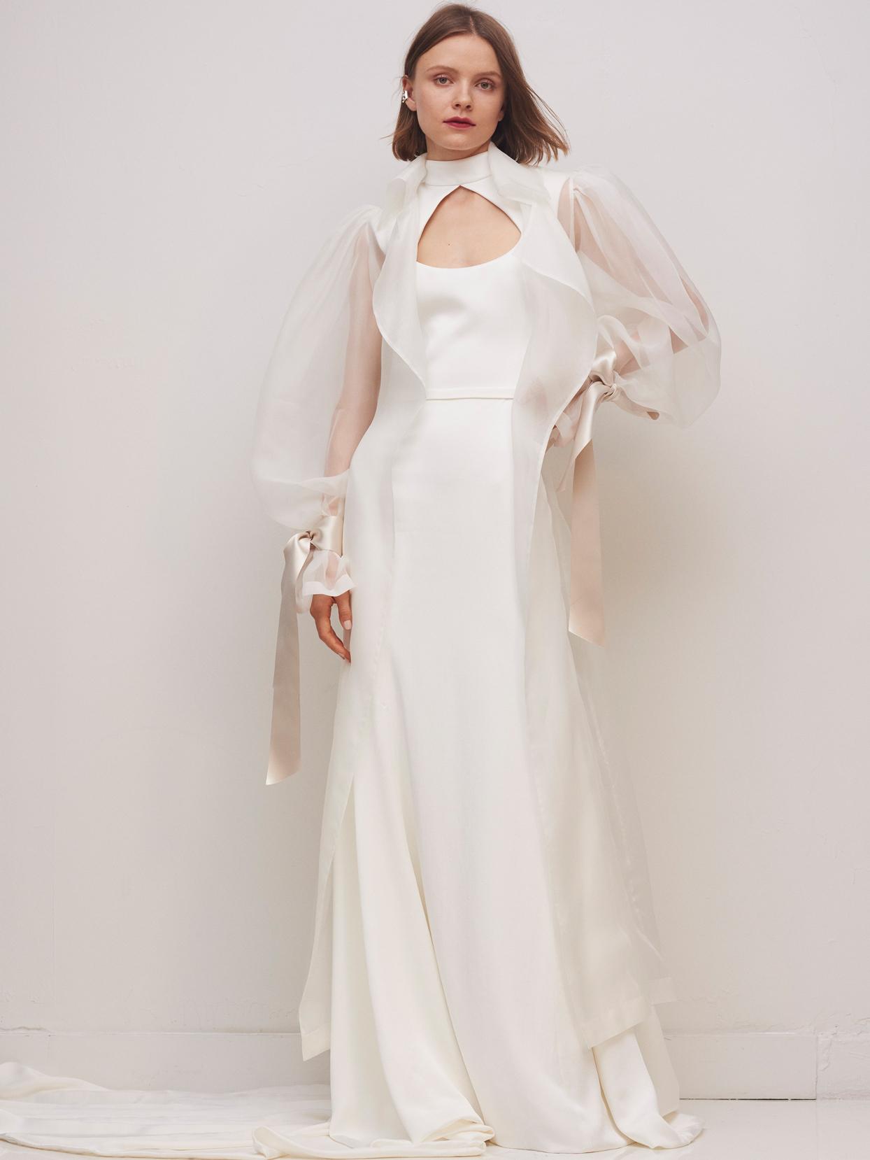 rivini by rita vinieris high-neckline with cut out sheath wedding dress fall 2020