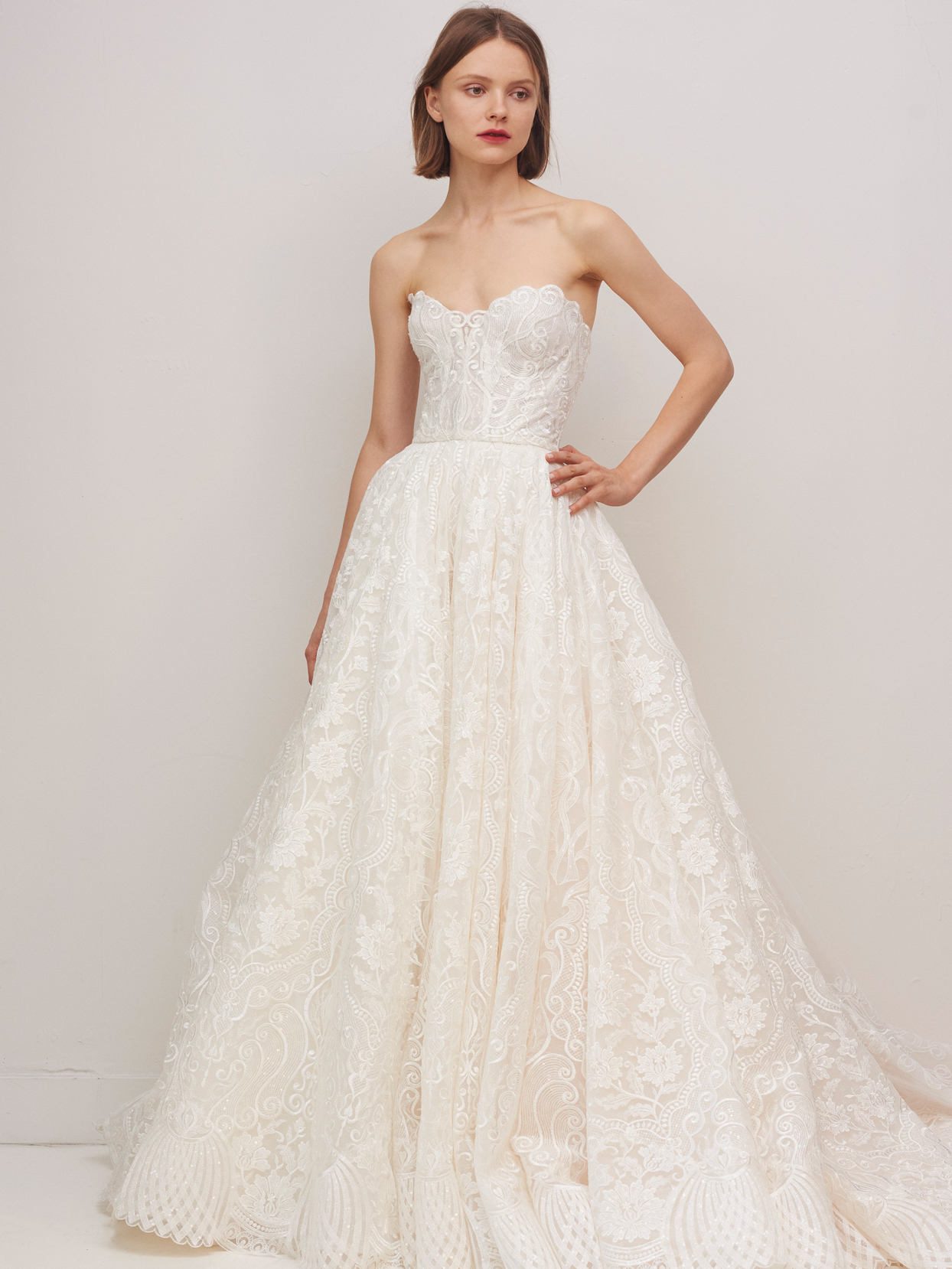 rivini by rita vinieris lace strapless a-line wedding dress fall 2020