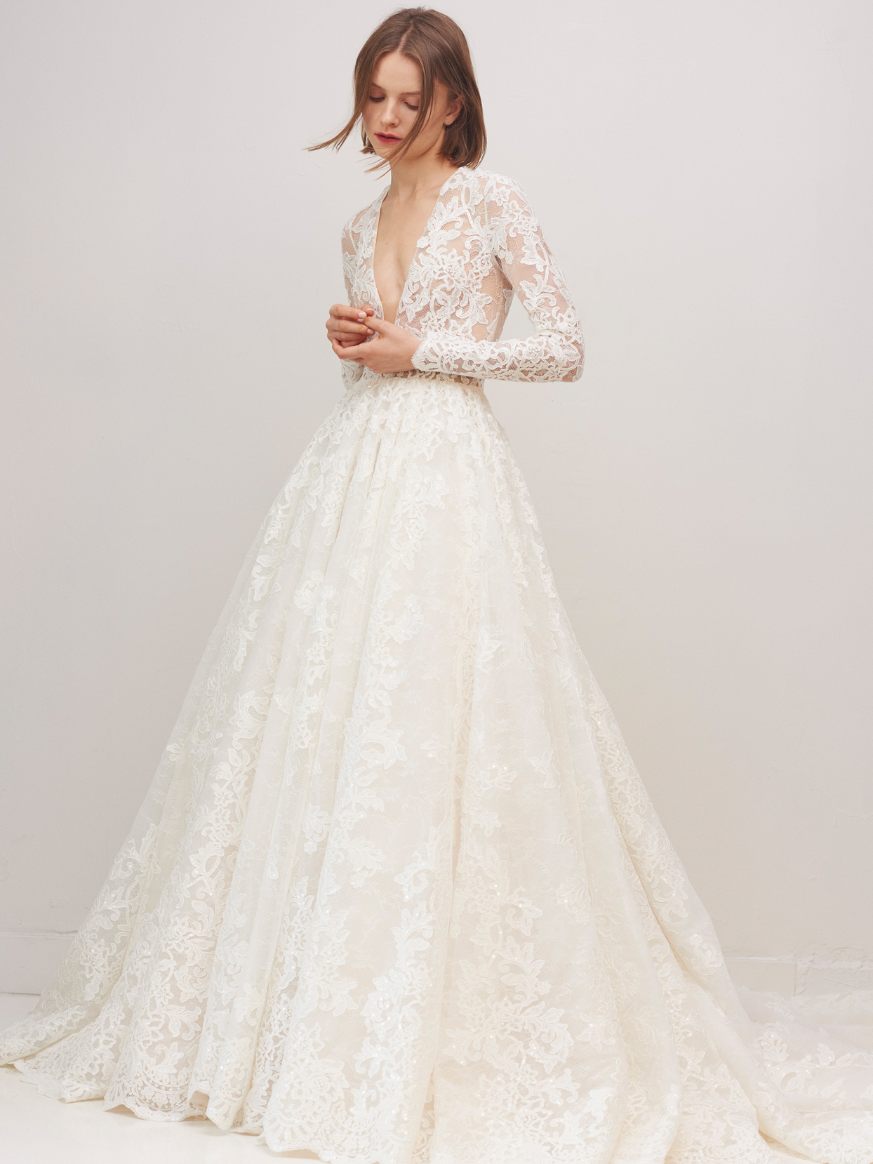 rivini by rita vinieris long sleeve lace a-line wedding dress fall 2020