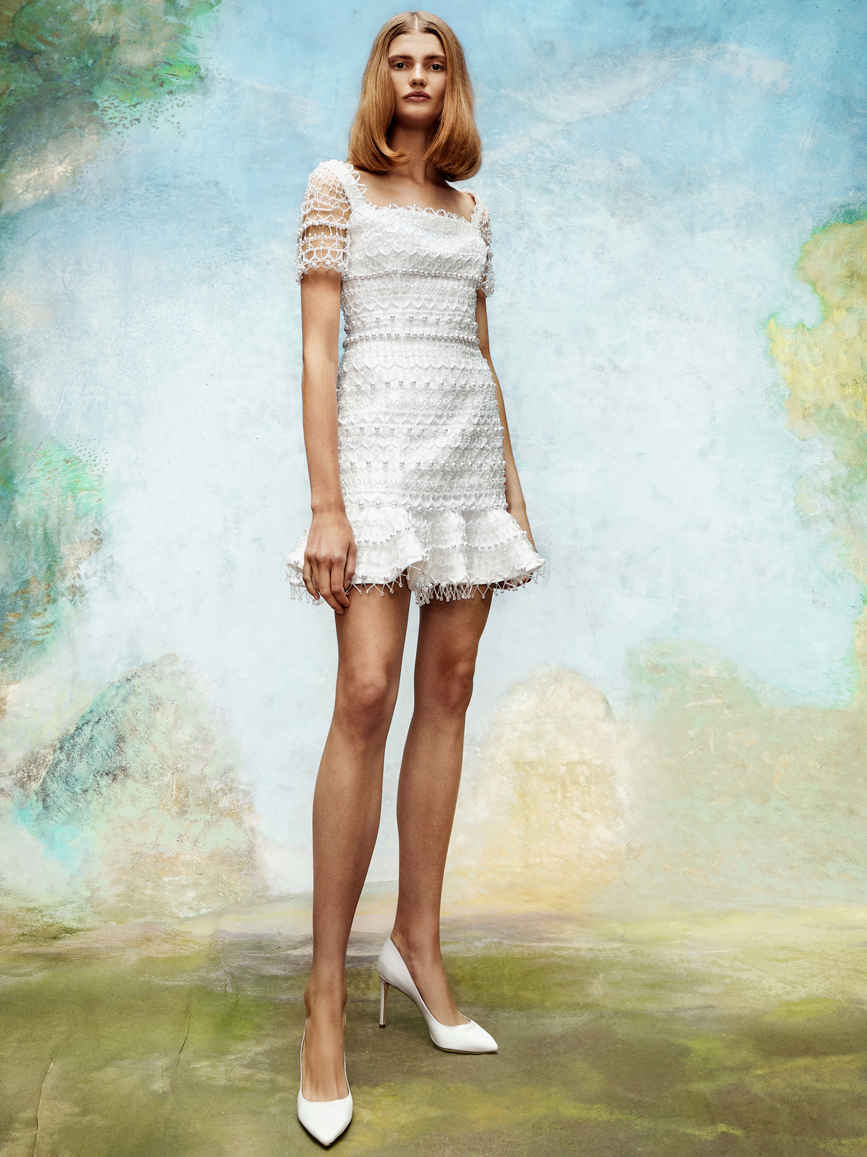 viktor and rolf short beaded wedding dress fall 2020