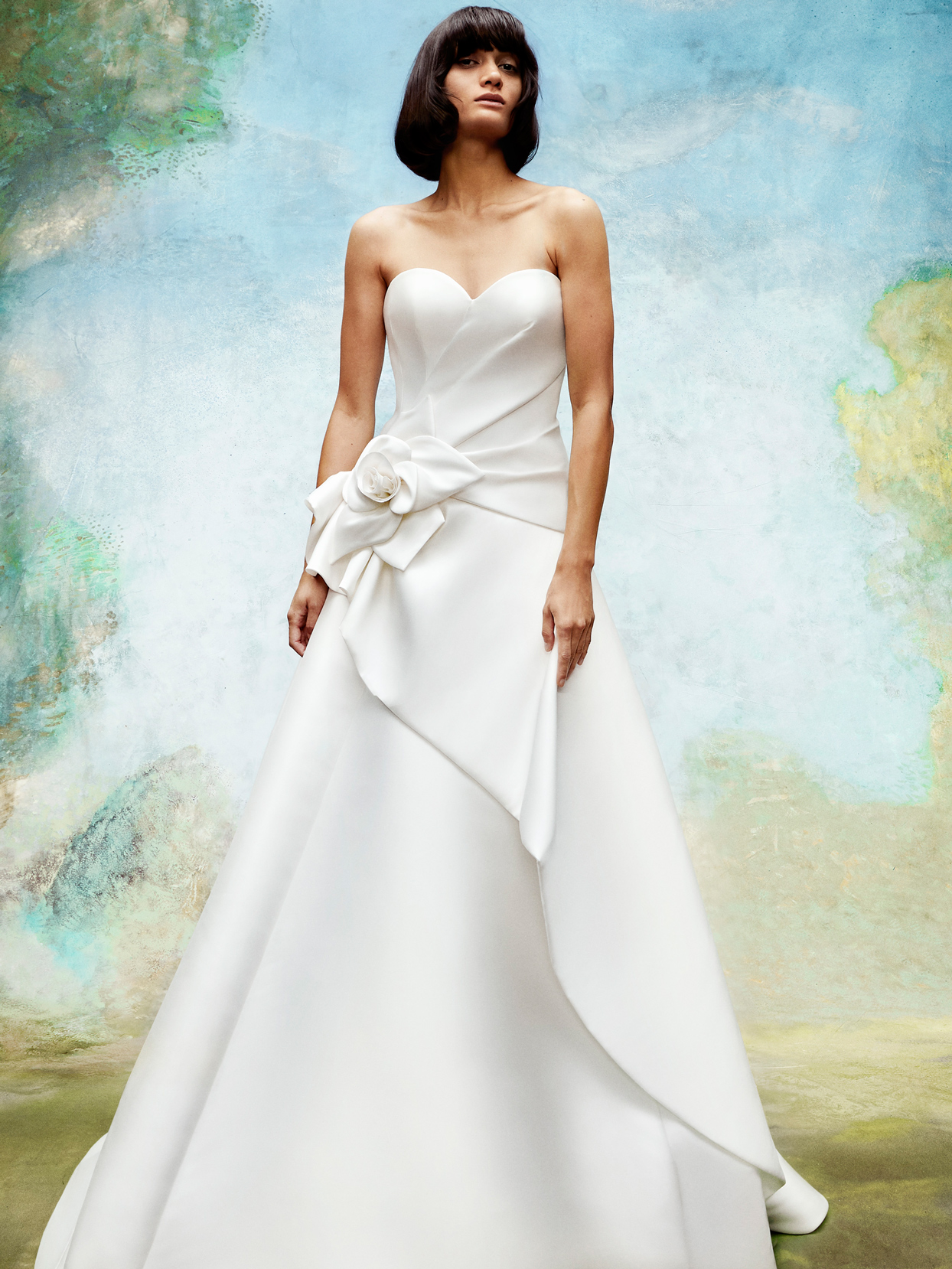 viktor and rolf strapless wedding dress with 3D floral detail fall 2020