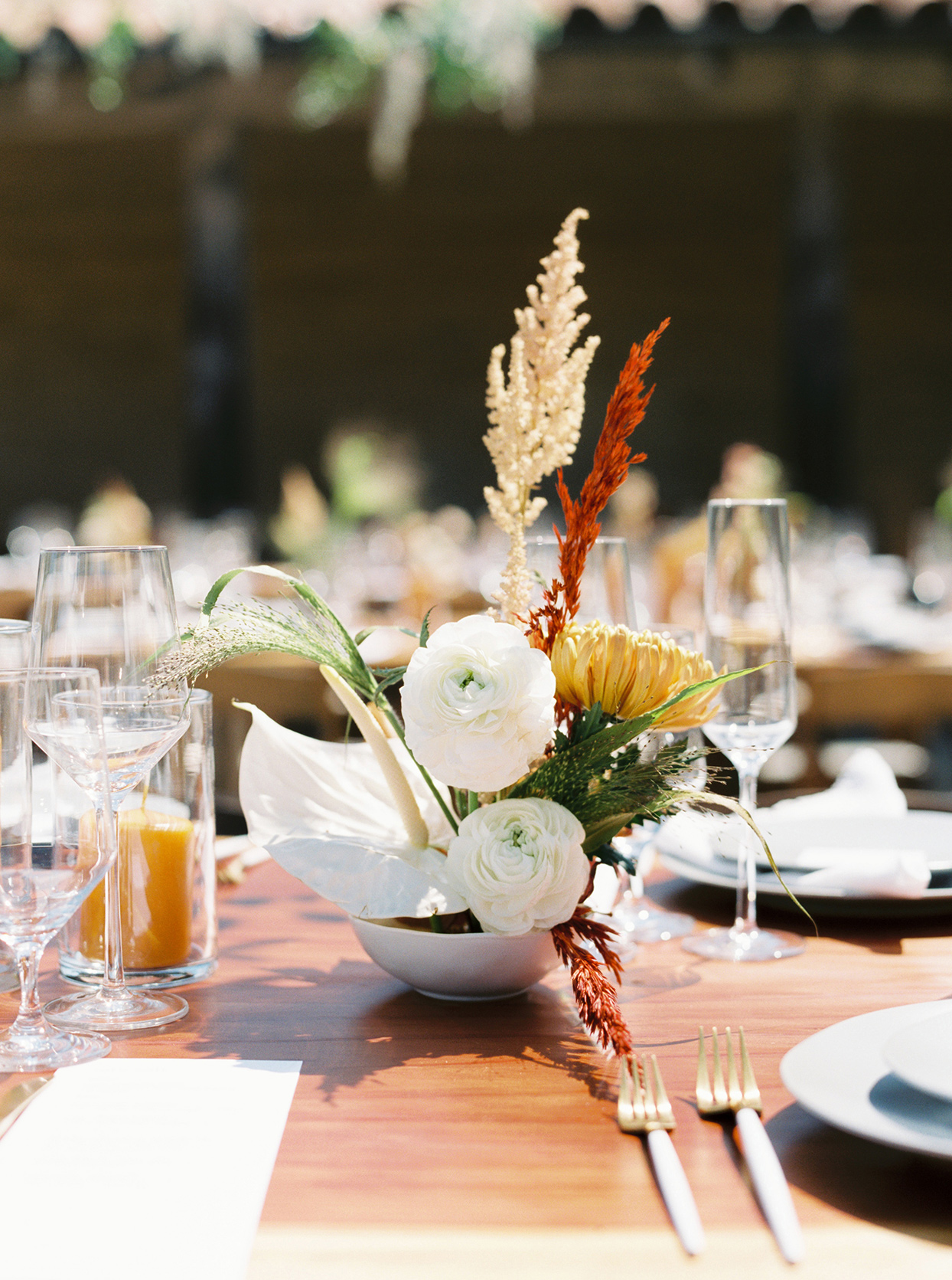 maddy will wedding rustic floral centerpiece