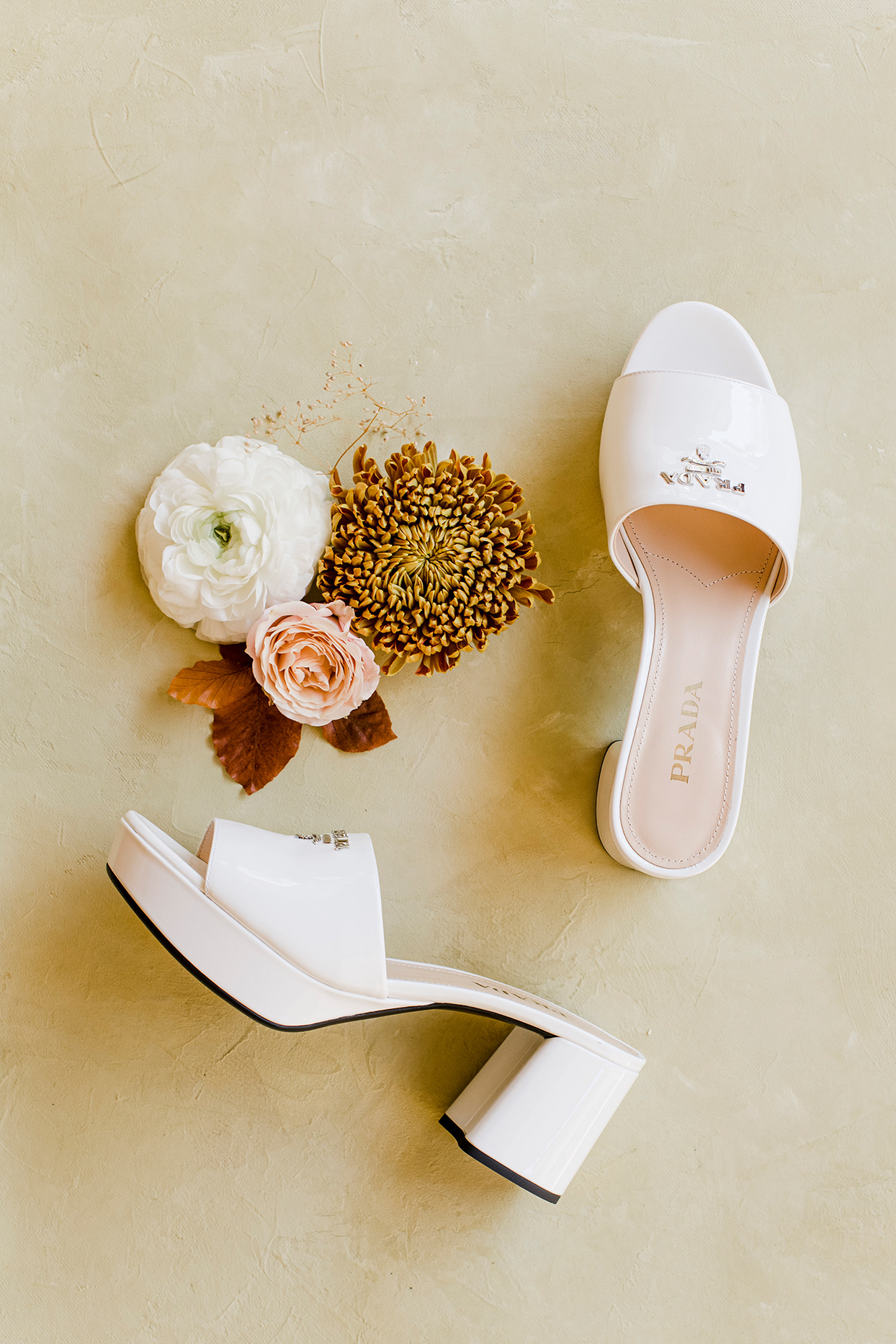maddie will bride's prada wedding shoes