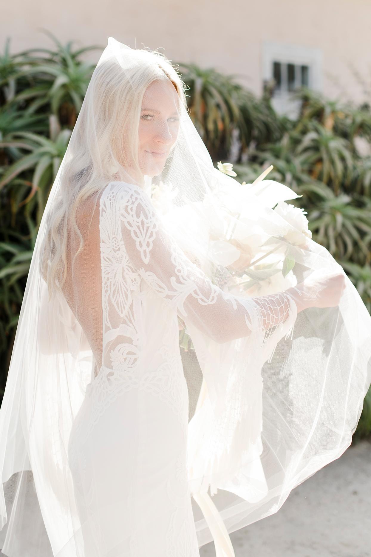 maddy will wedding bride's veil