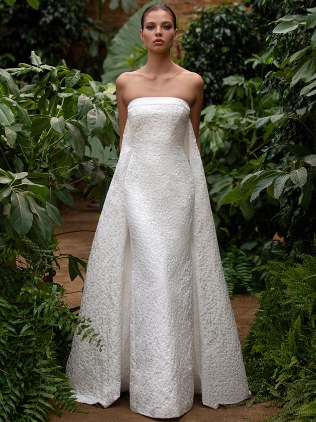 Zac Posen For White One strapless sheath wedding dress fall 2020
