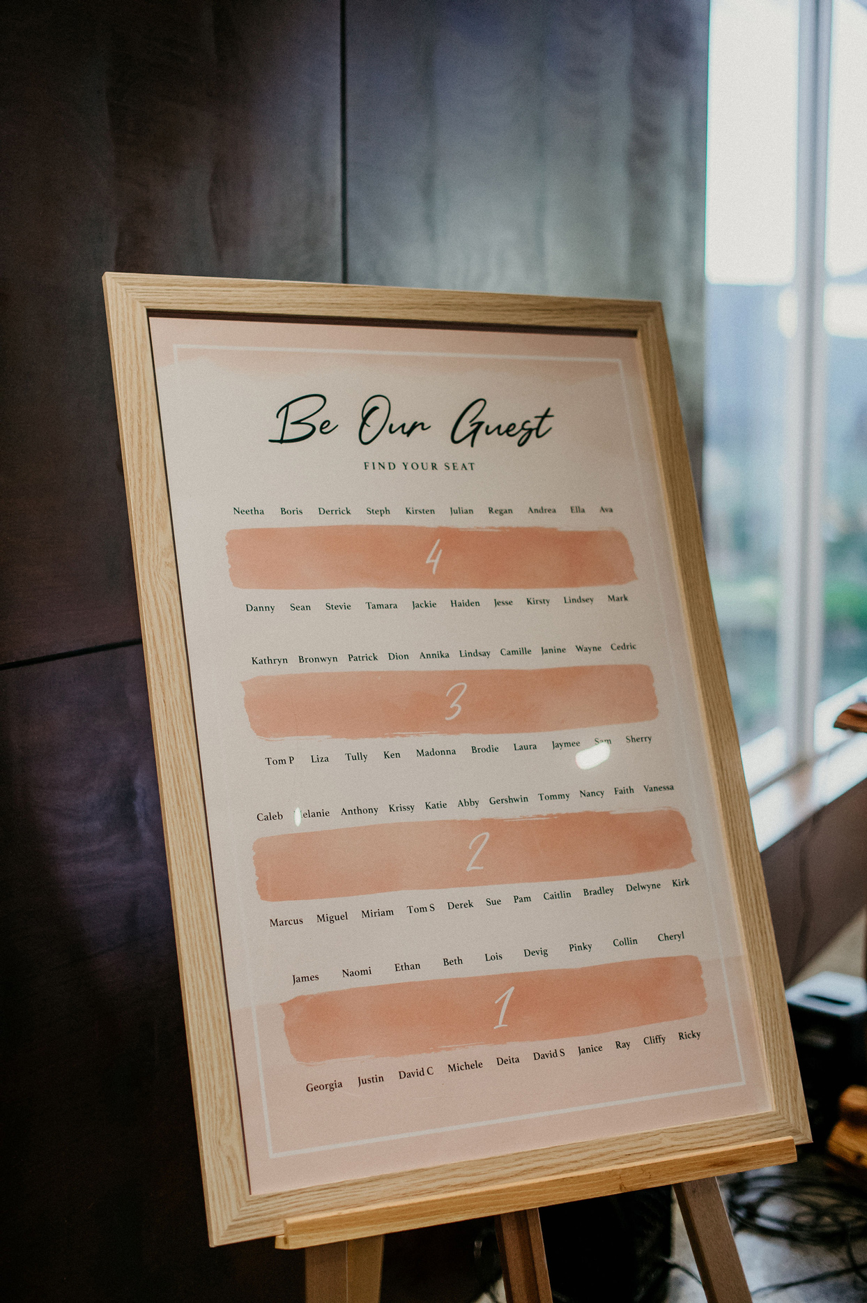 be our guest wedding seating chart