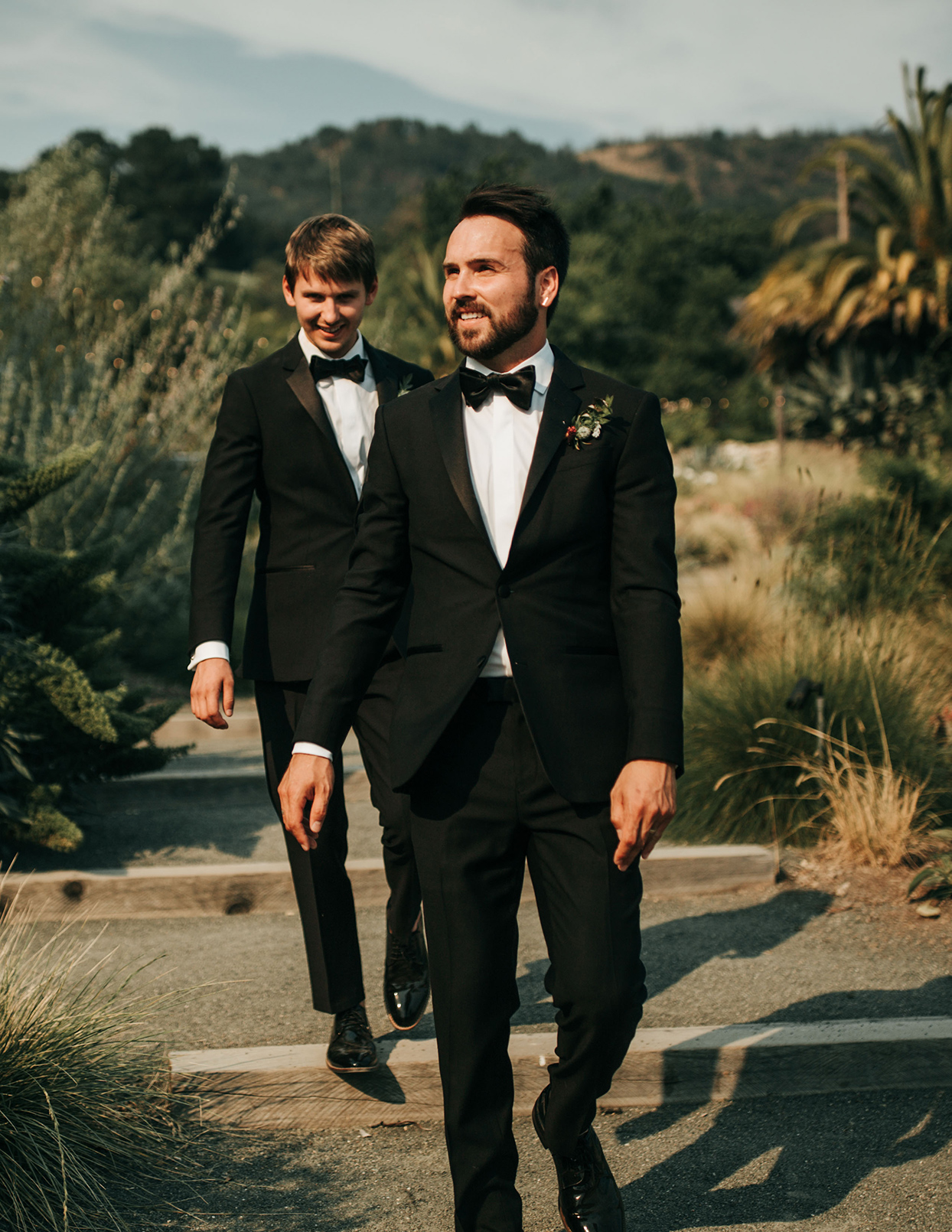 Two Grooms in Tuxes