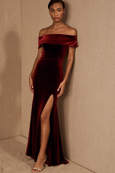 "BHLDN ""Fawn"" Bridesmaids Dress in Burgundy"