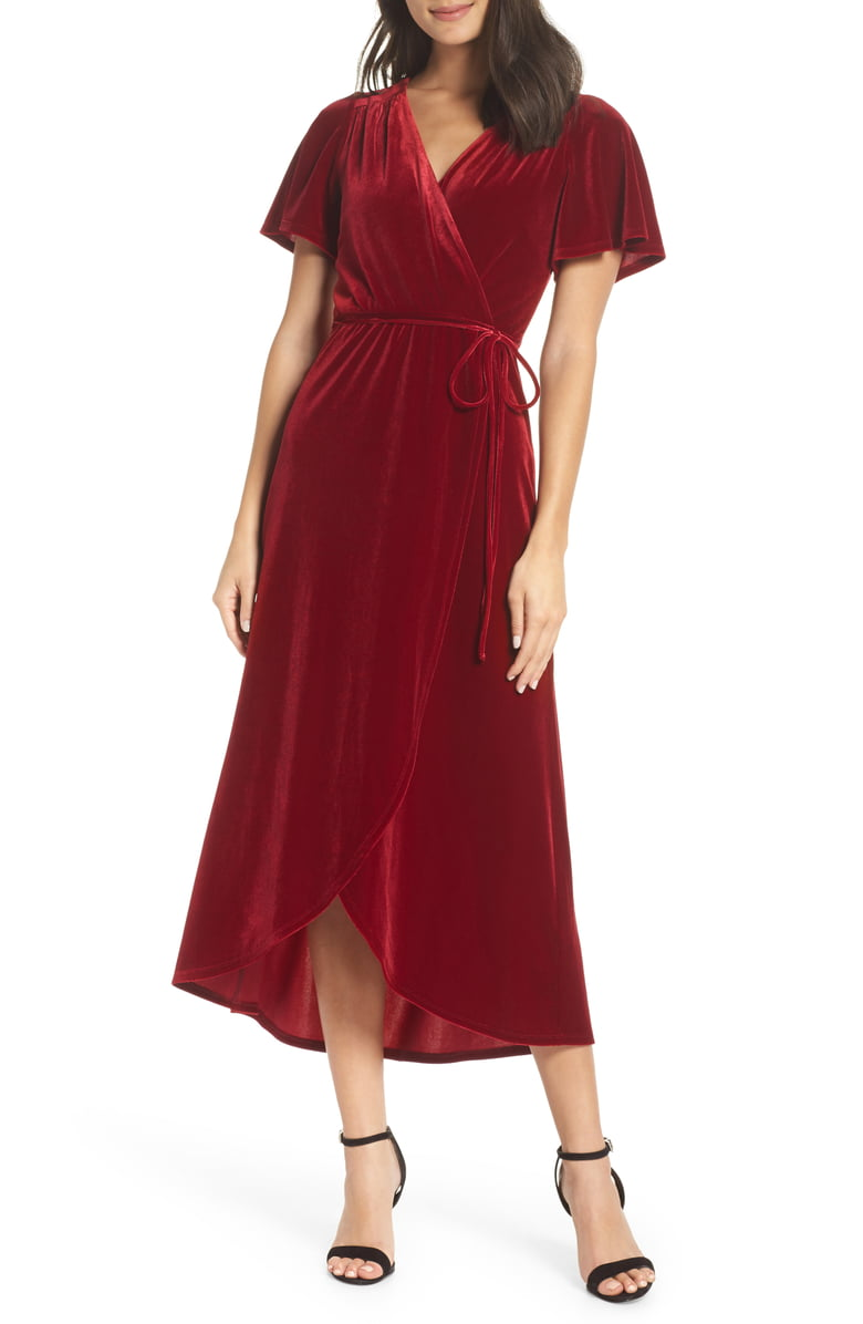 Chelsea 28 Burgundy Wrap Bridesmaid Dress