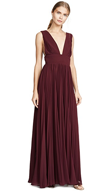 "Fame and Partners ""The Weslin"" Dress in Burgundy"