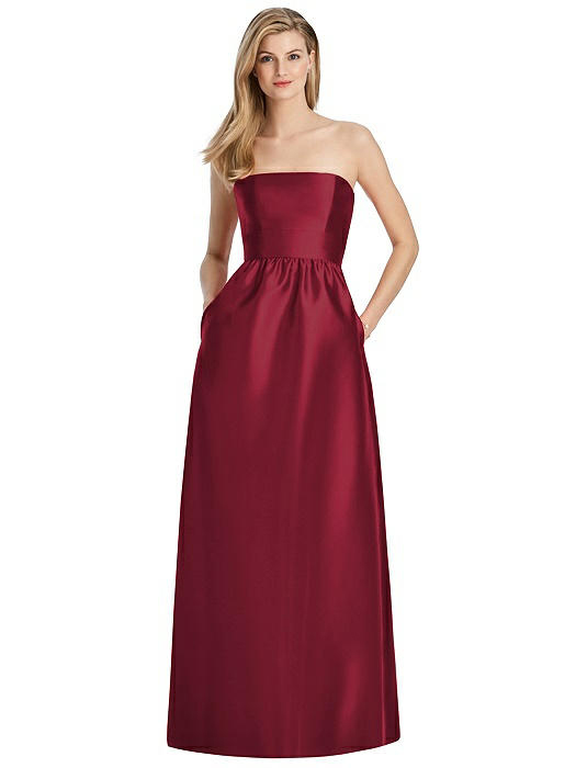 Sateen Twill Burgundy Dress