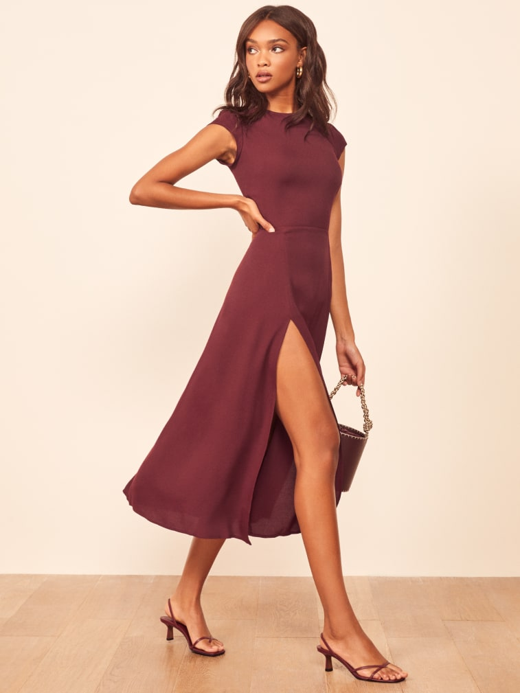 "Reformation ""Gavin"" Dress in Burgundy"