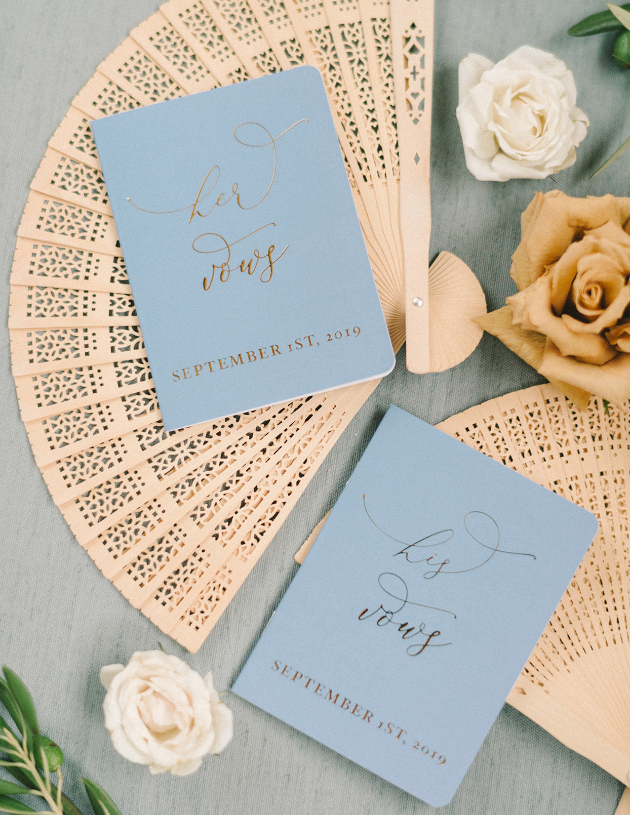 ericka meechaeyl wedding couple's vow books