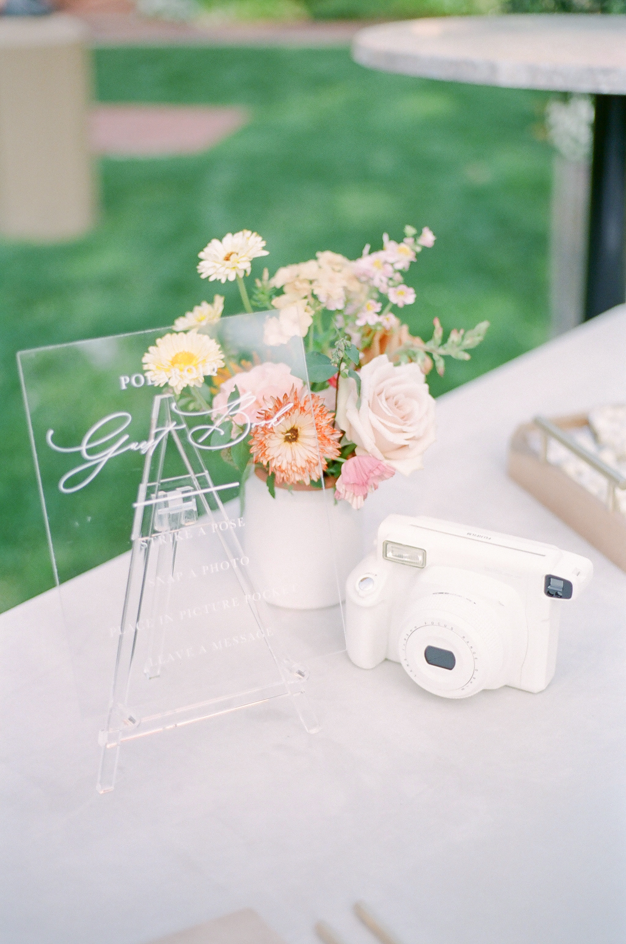 evelyn sam wedding decor and guestbook