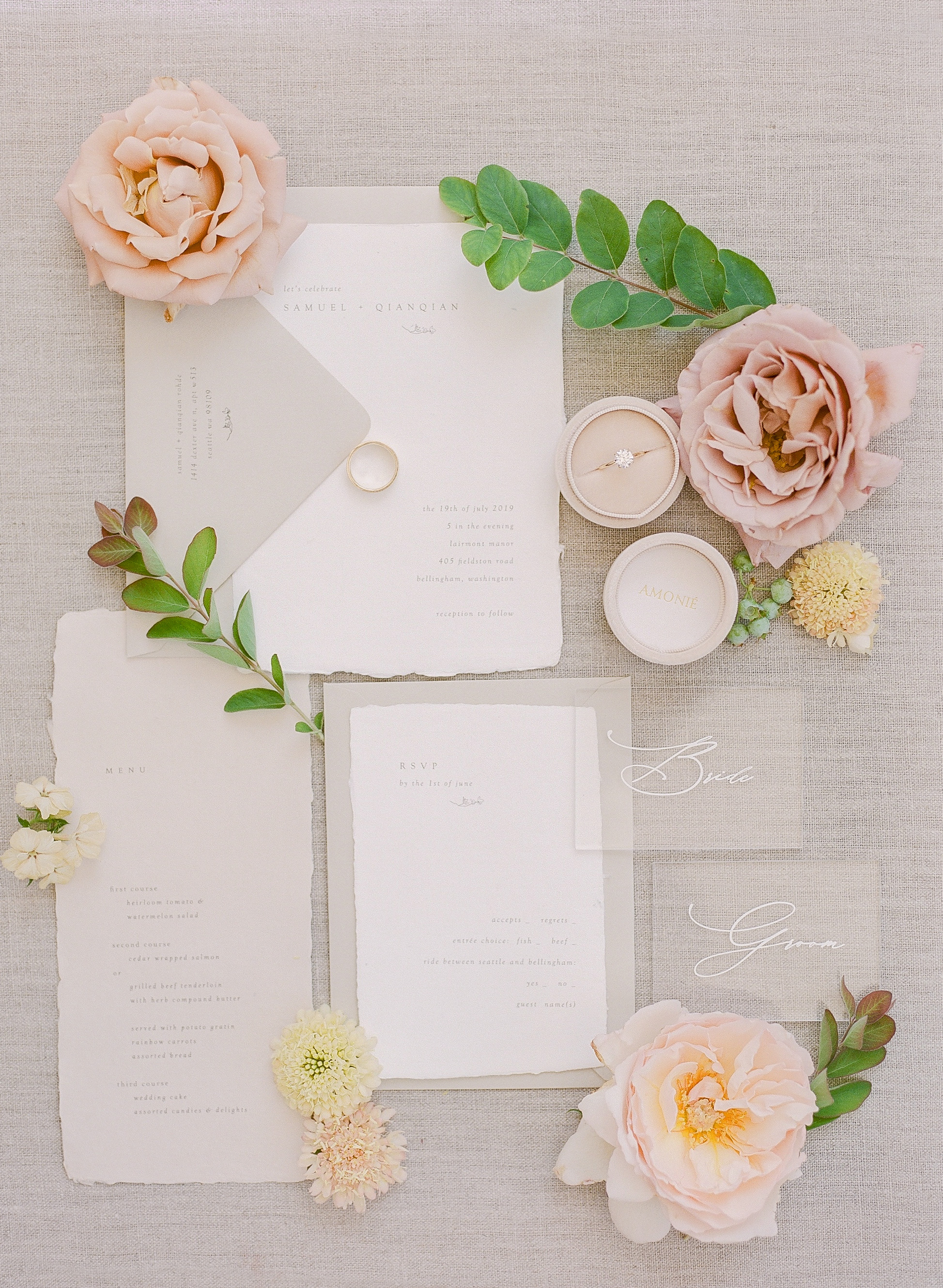 evelyn sam wedding invitations