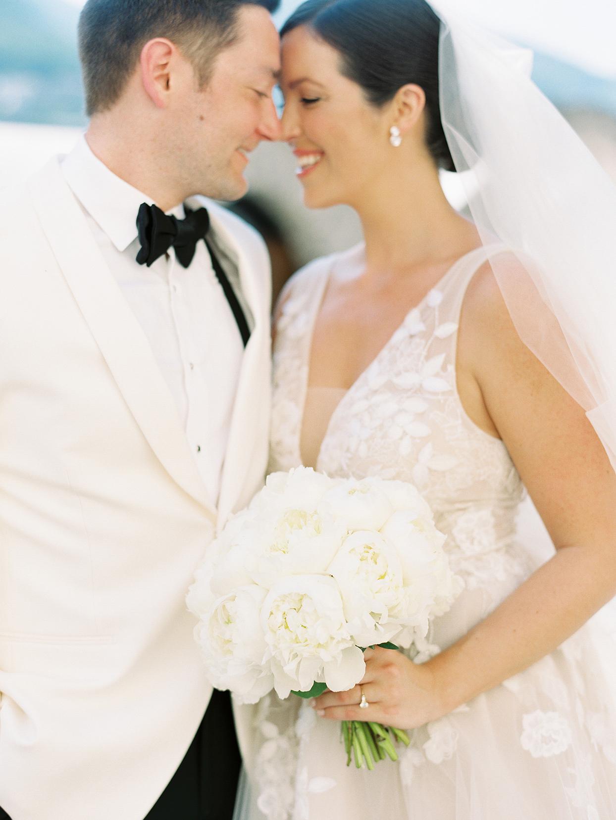 jacqueline david wedding couple in white