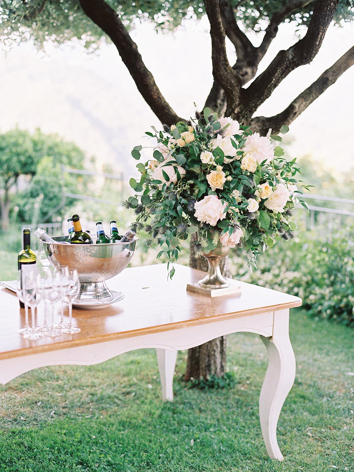 jacqueline david wedding cocktail hour setup
