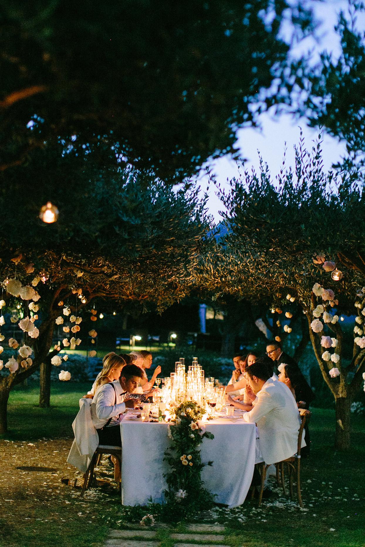 jacqueline david wedding intimate candle lit dinner