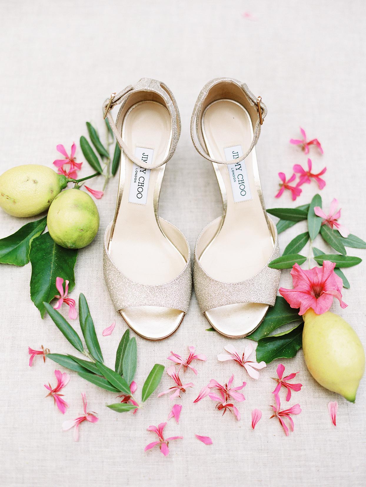 jacqueline david wedding brides golden shoes