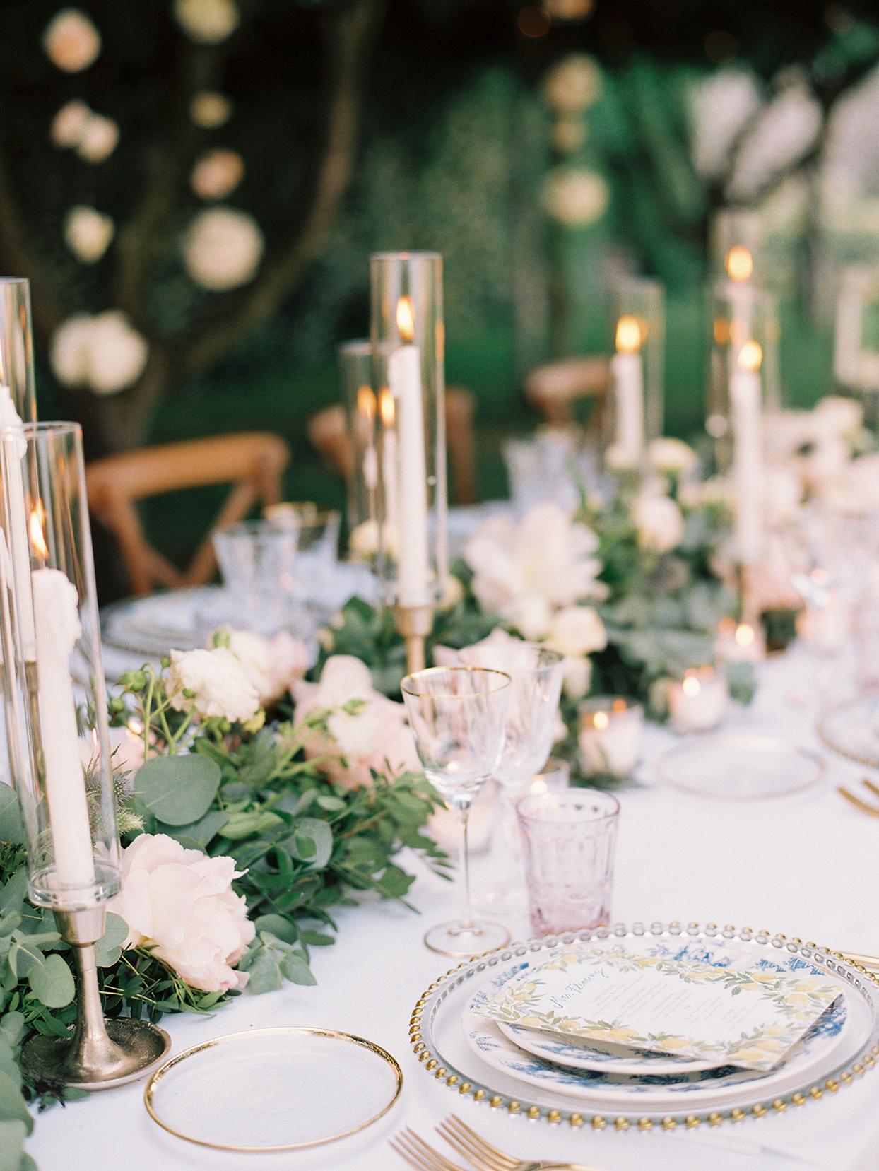 jacqueline david wedding reception table setting pastels