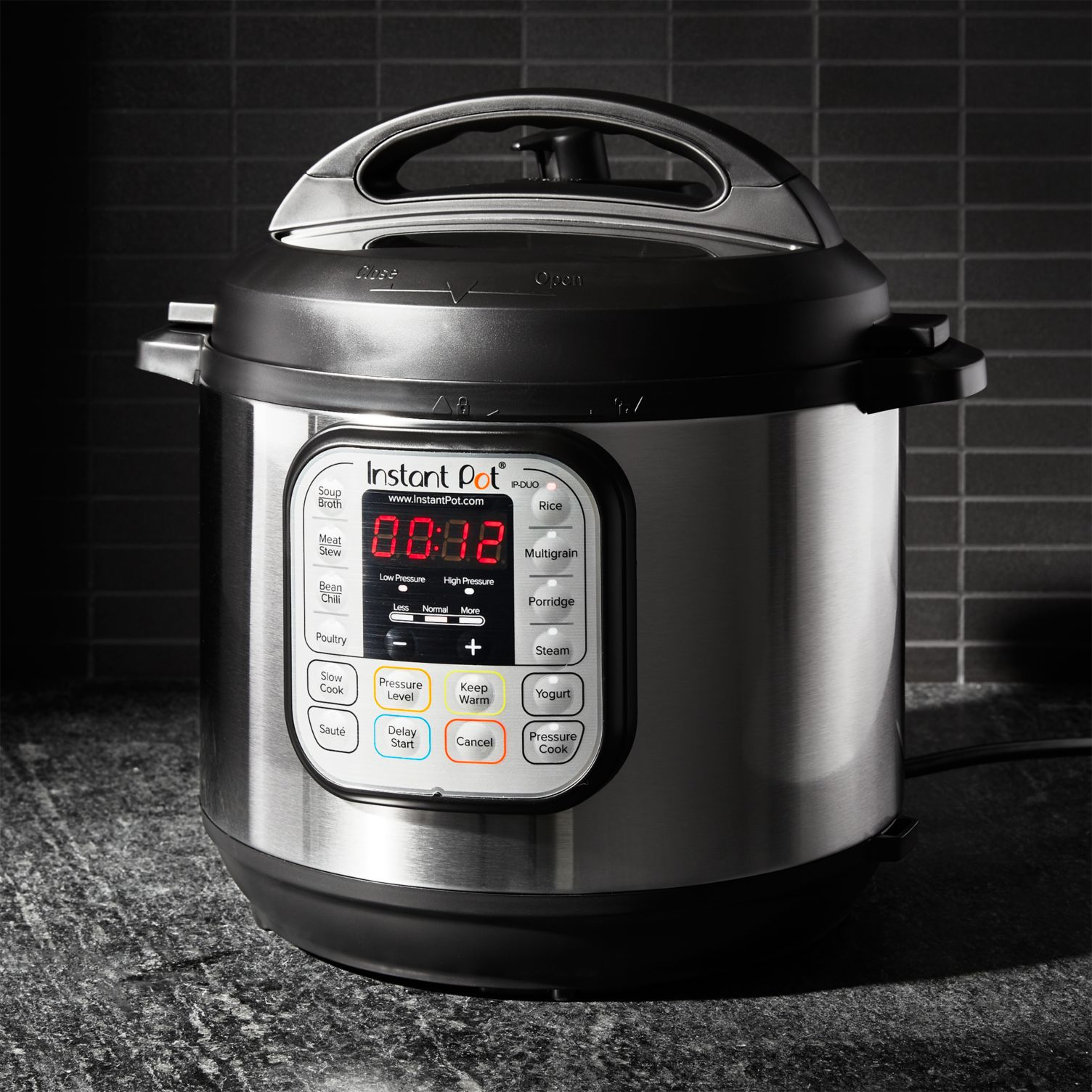 "stainless steel Instant Pot ""Duo60"" 6-Quart Electric Pressure Cooker"
