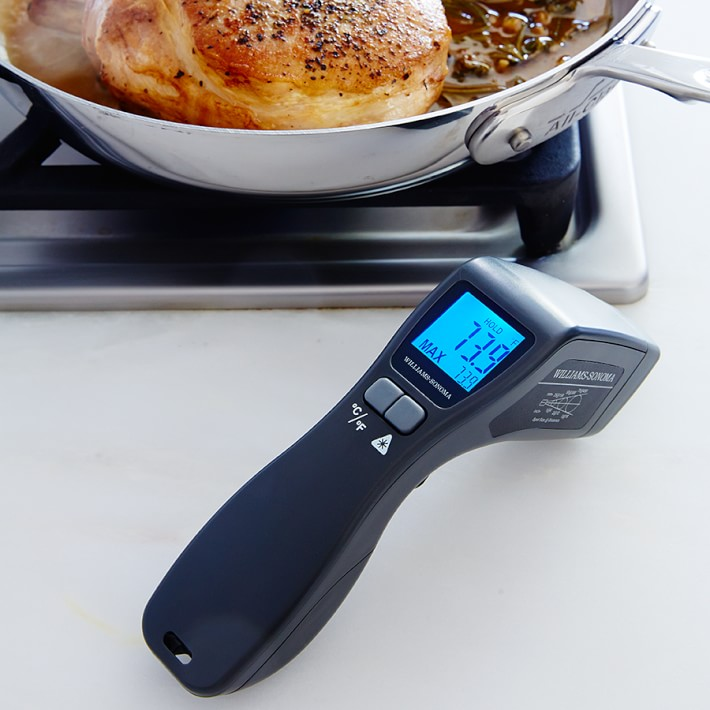 Williams-Sonoma Infrared Thermometer blue digital screen