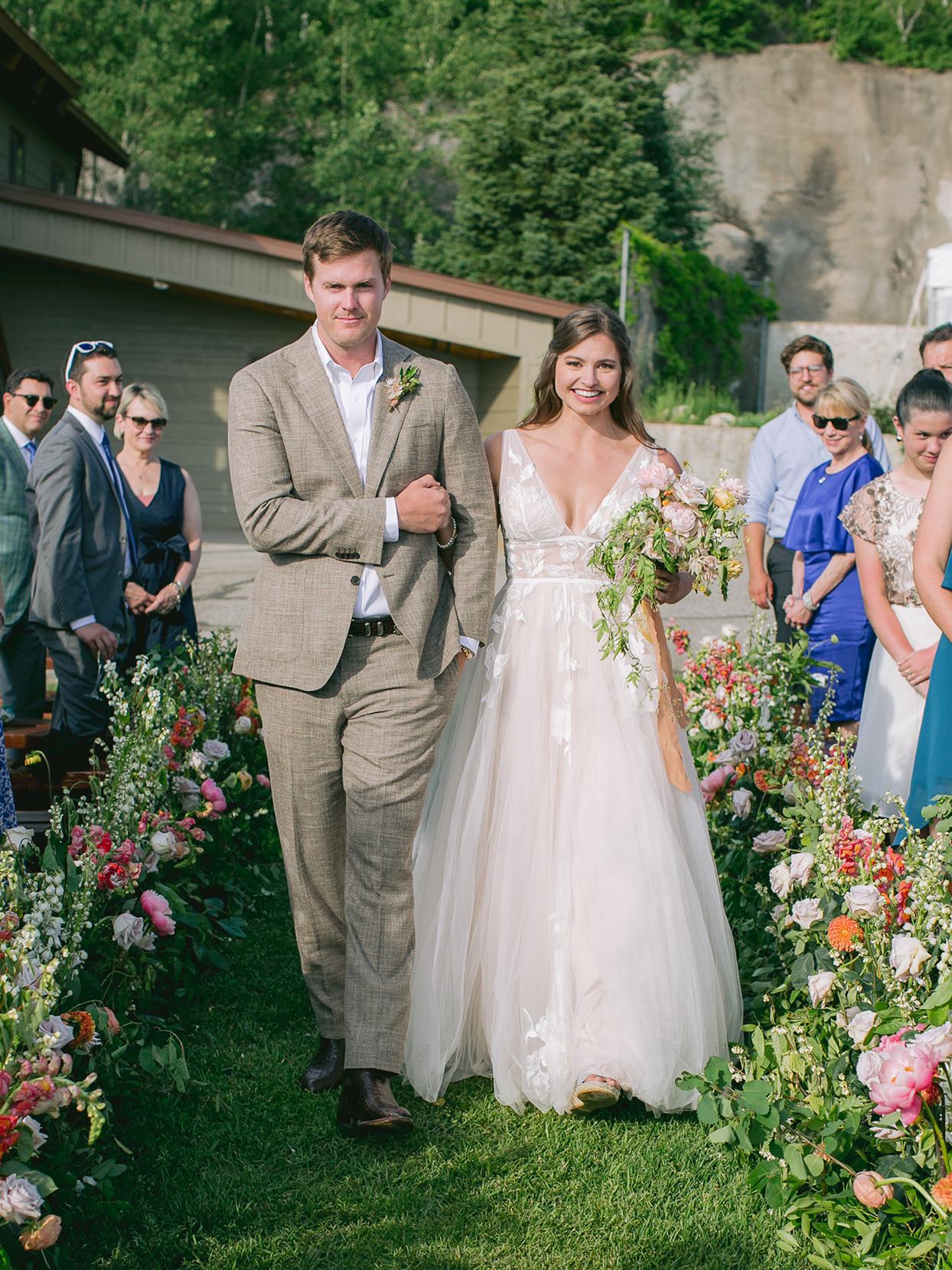 logan conor wedding ceremony processional couple