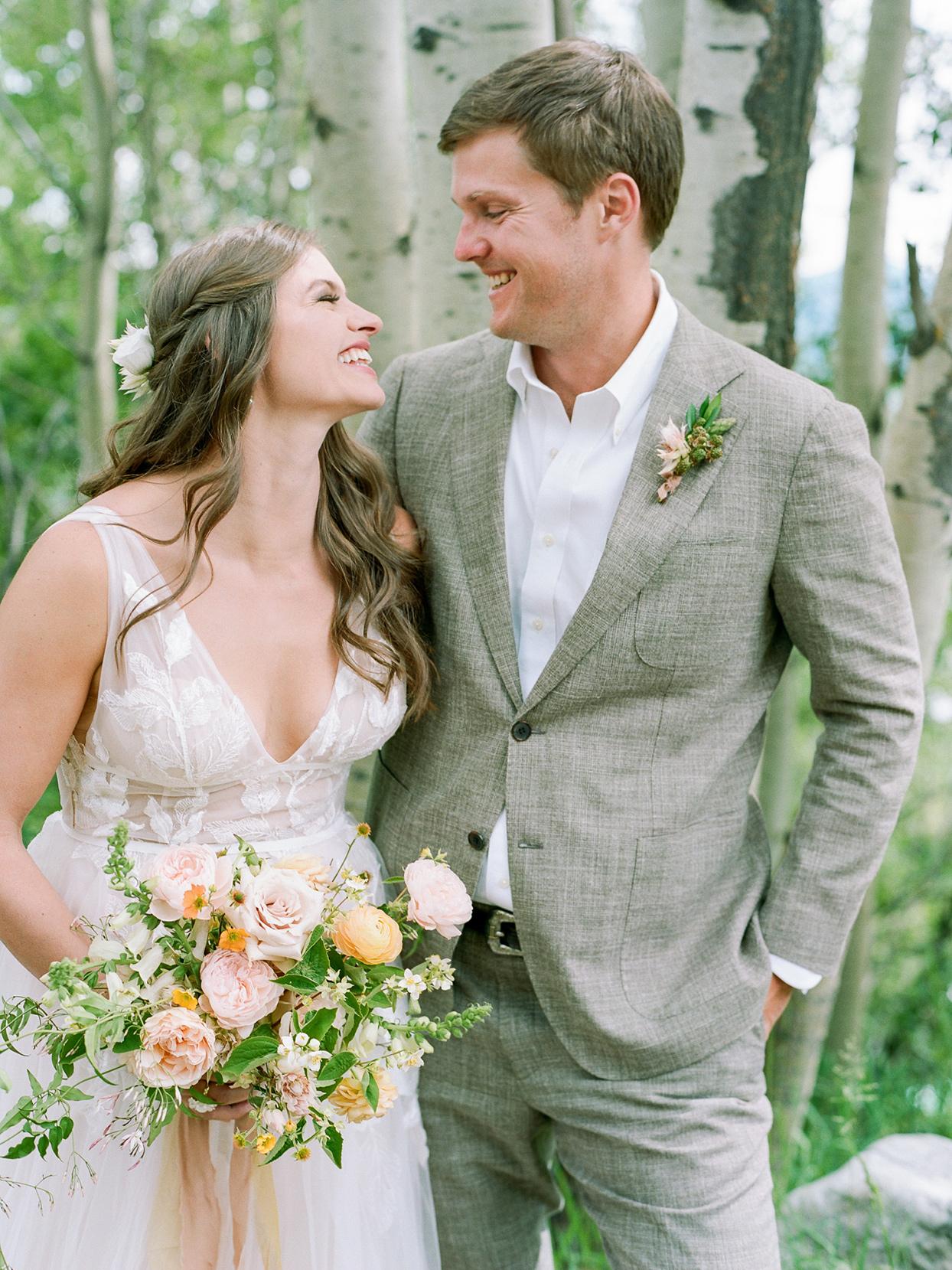 logan conor wedding couple smiling