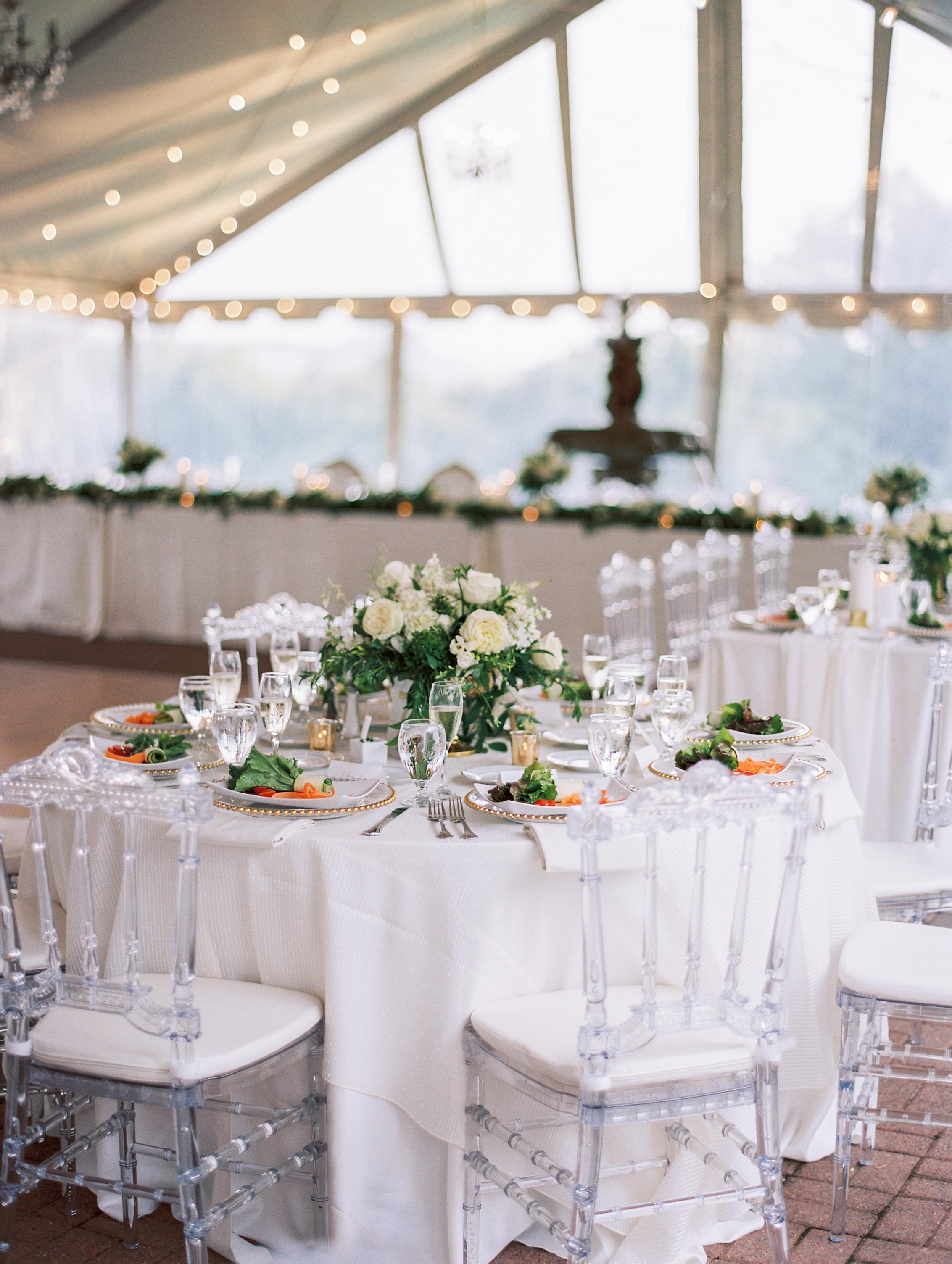 macey joshua wedding reception tables