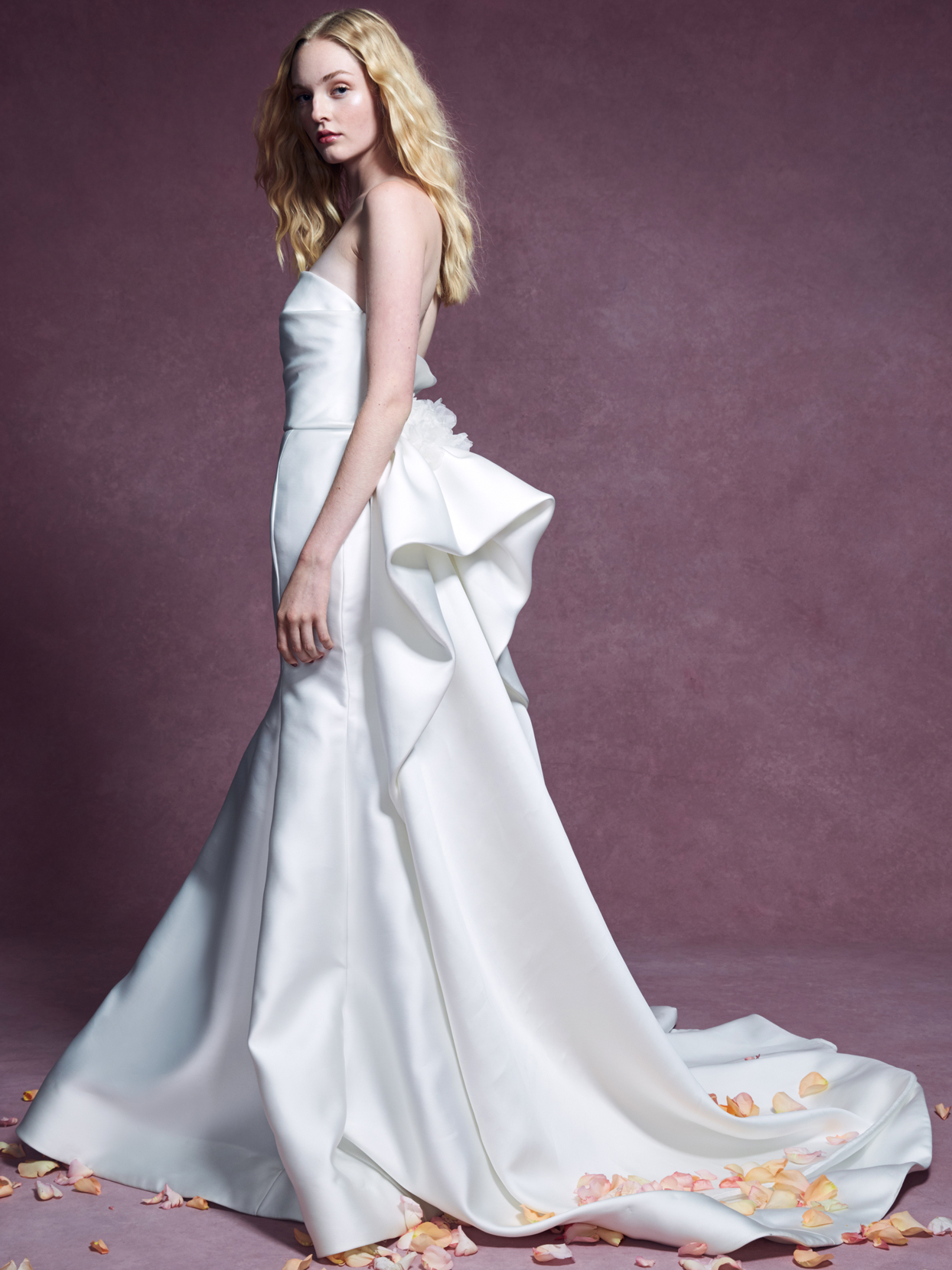 Marchesa strapless trumpet wedding dress fall 2020