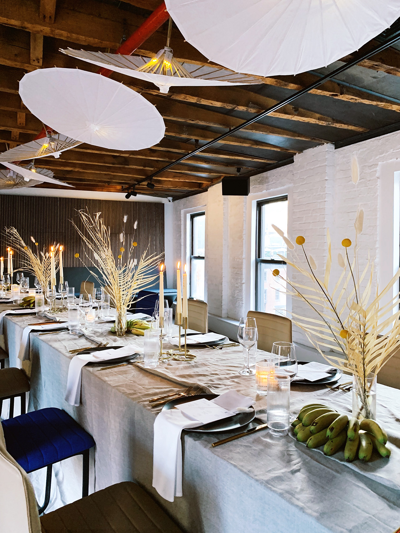 pen-plan penthouse loft wedding venue table setting