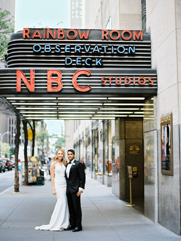 wedding couple rockefeller center rainbow room