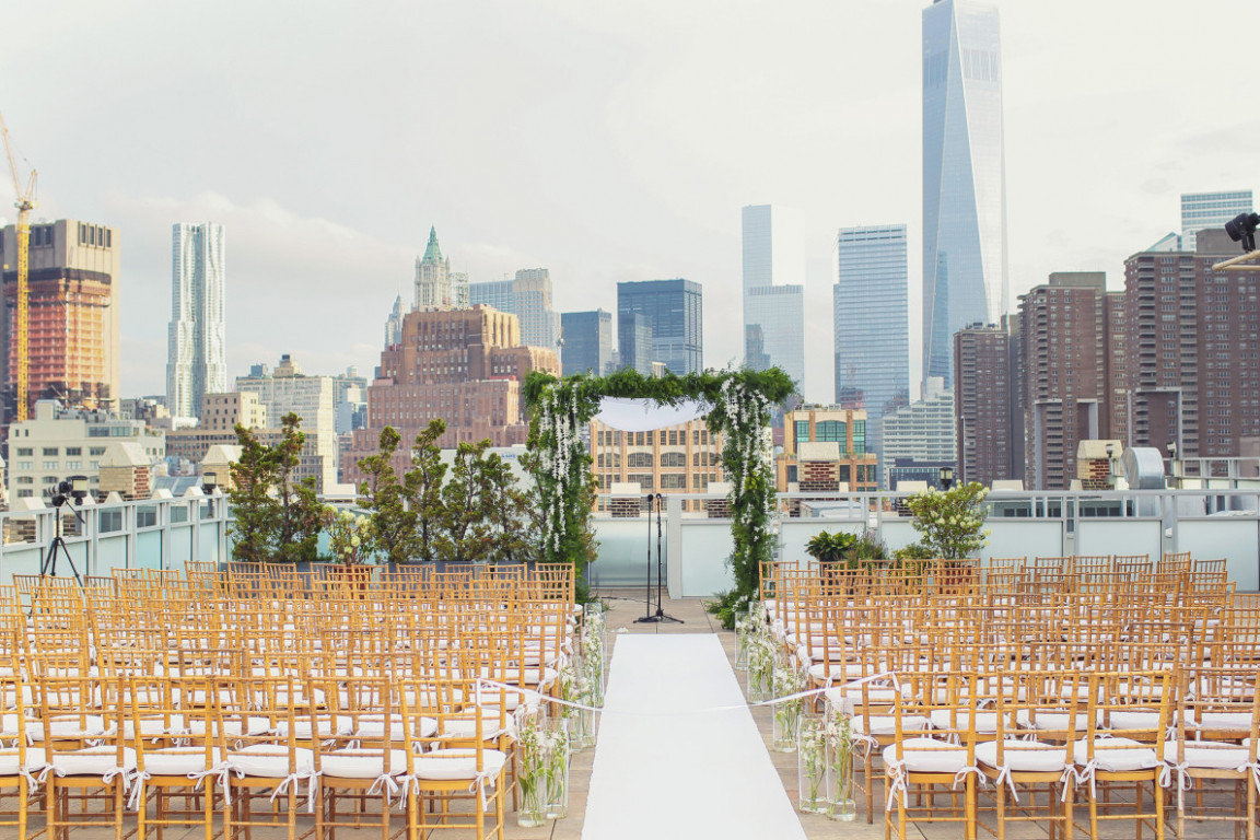 Tribeca Rooftop Wedding Venue New York View