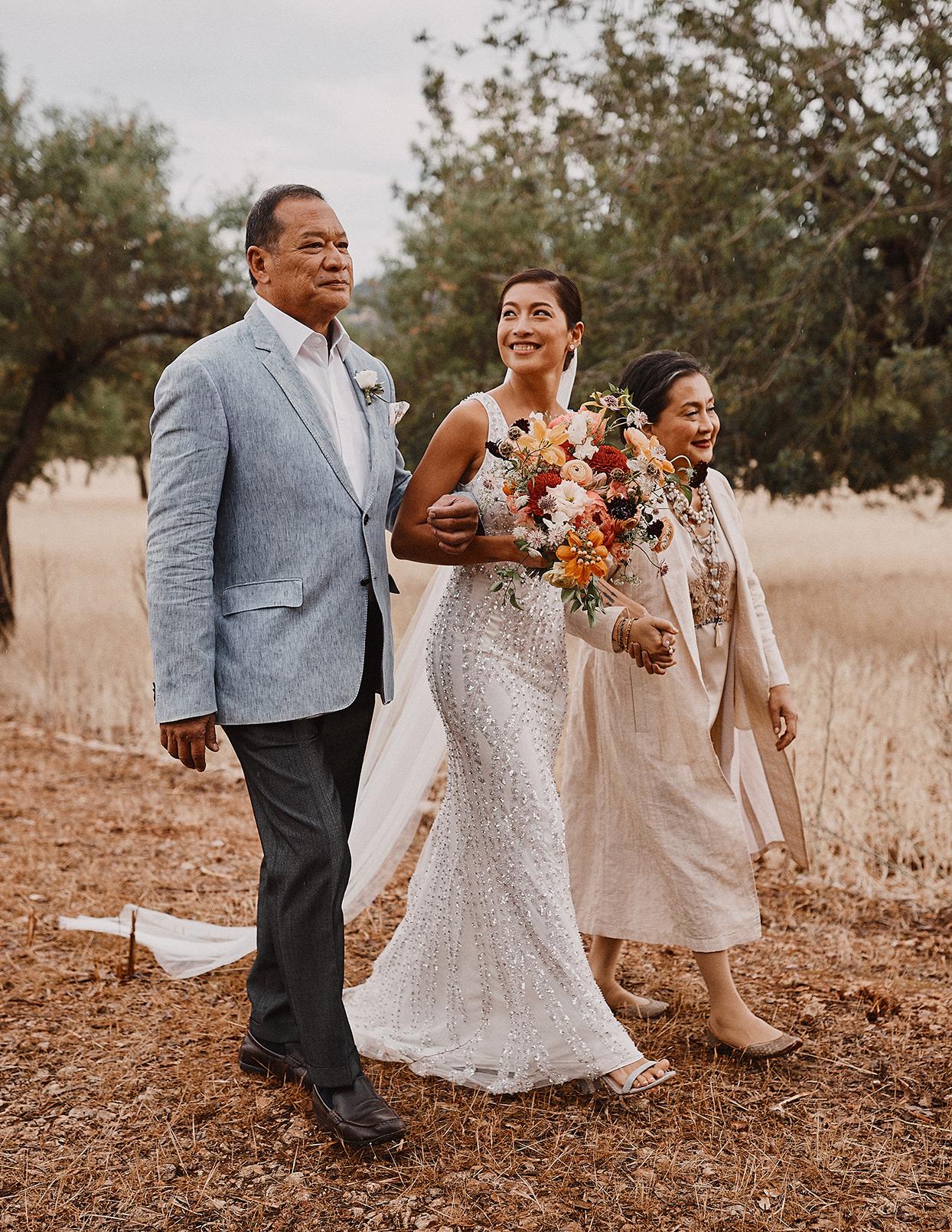 pomme daniel wedding parents and bride processional