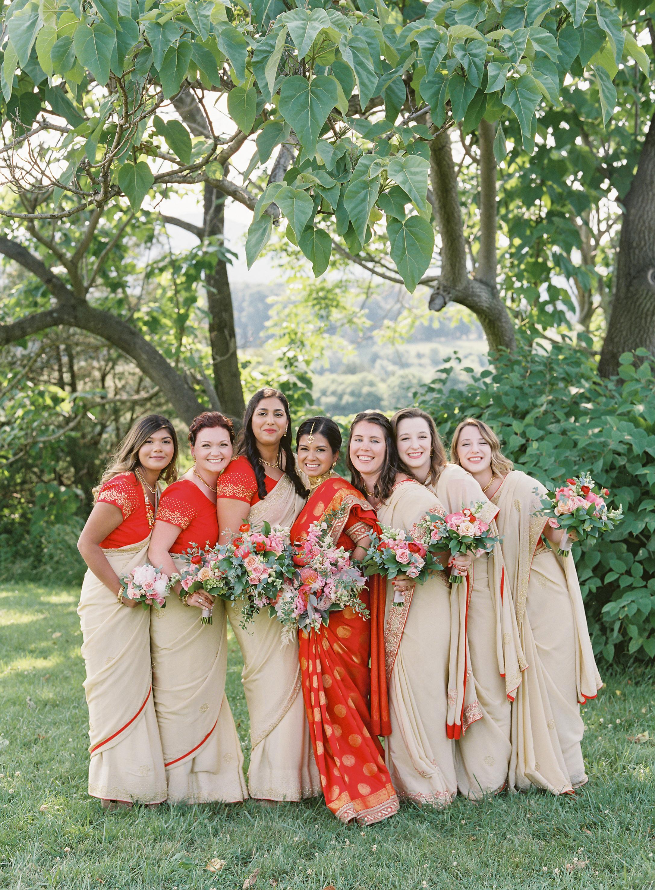 ronita ryan wedding bridesmaids posing