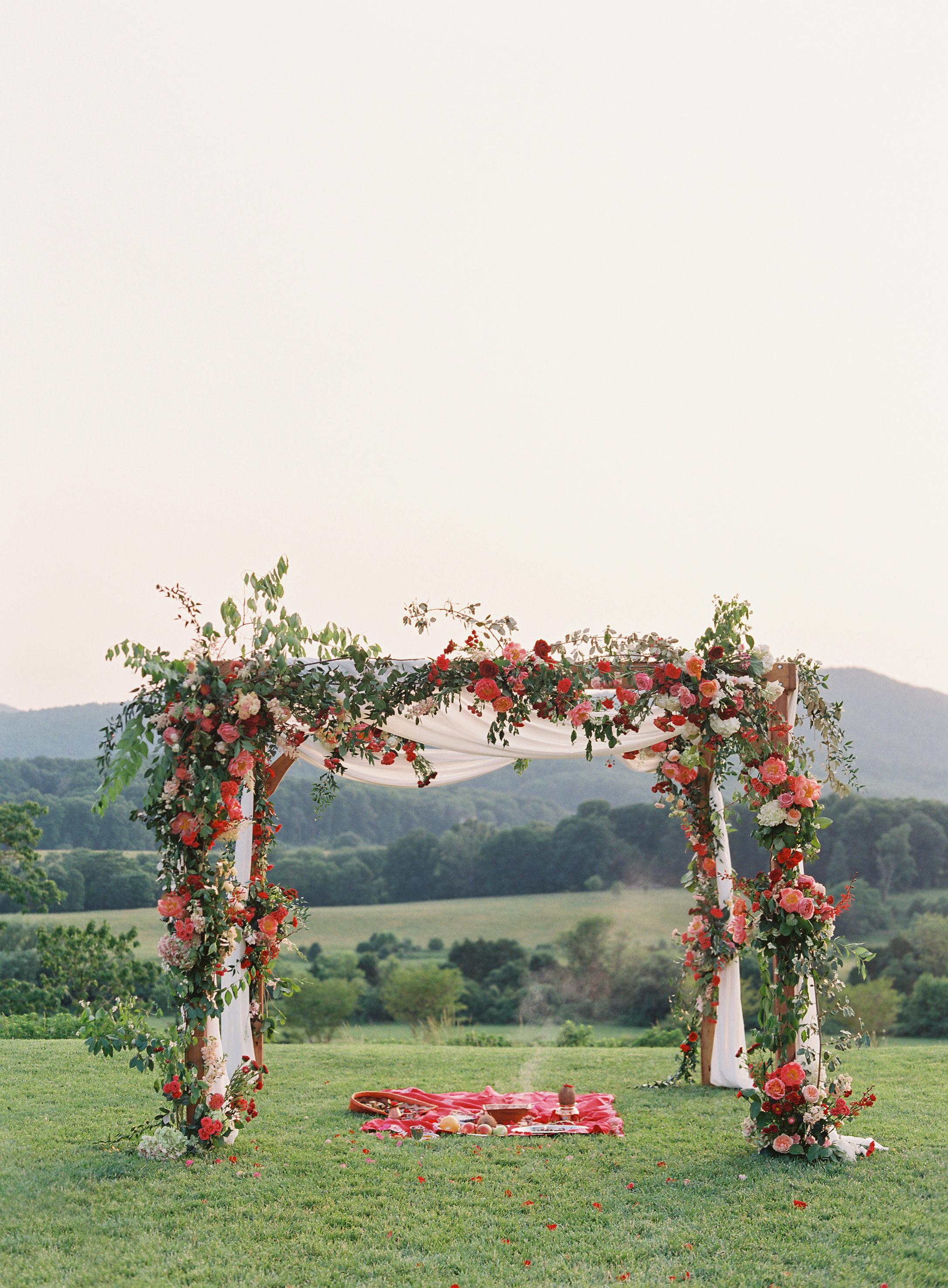 ronita ryan wedding ceremony arch