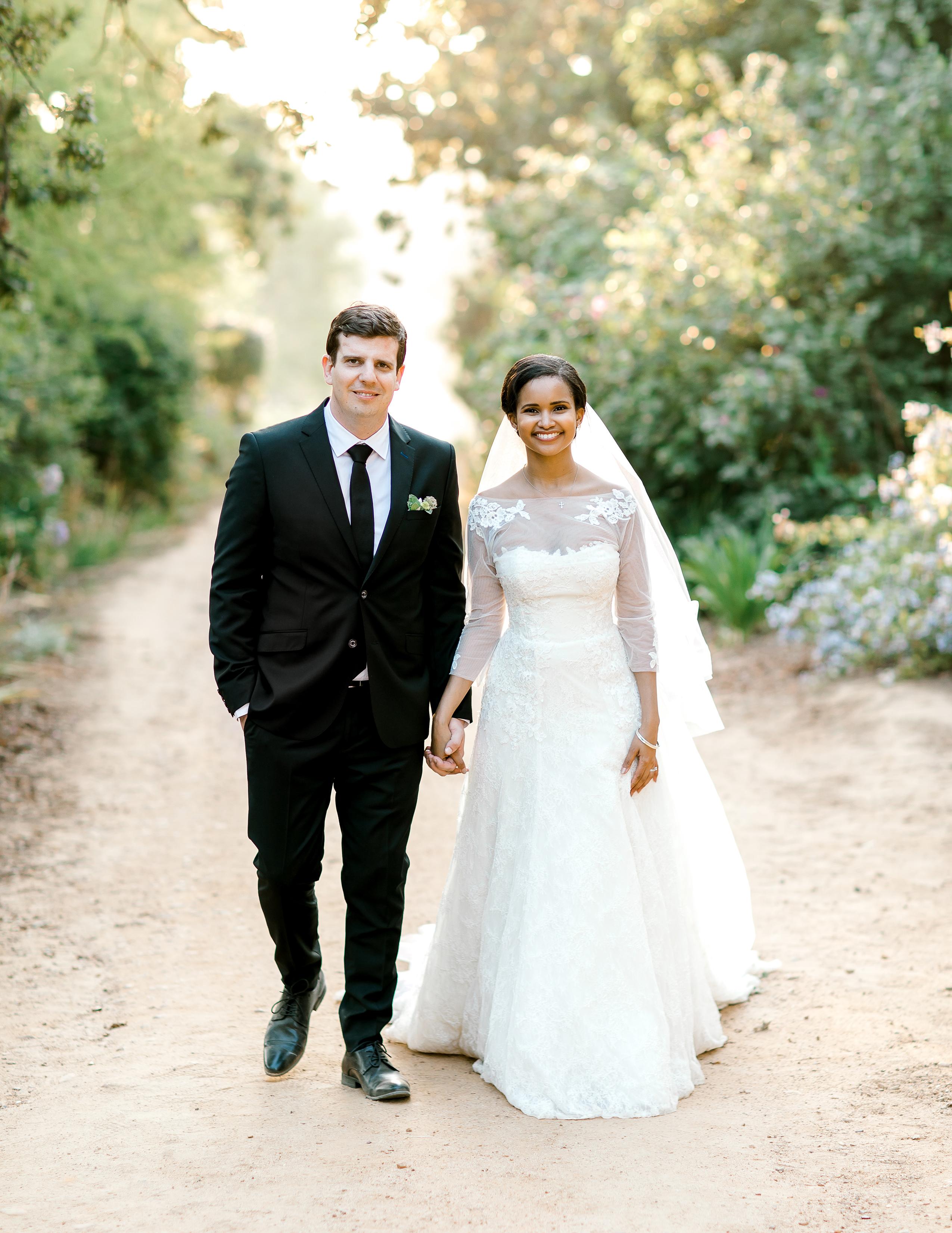 rorisang stephen wedding couple walking