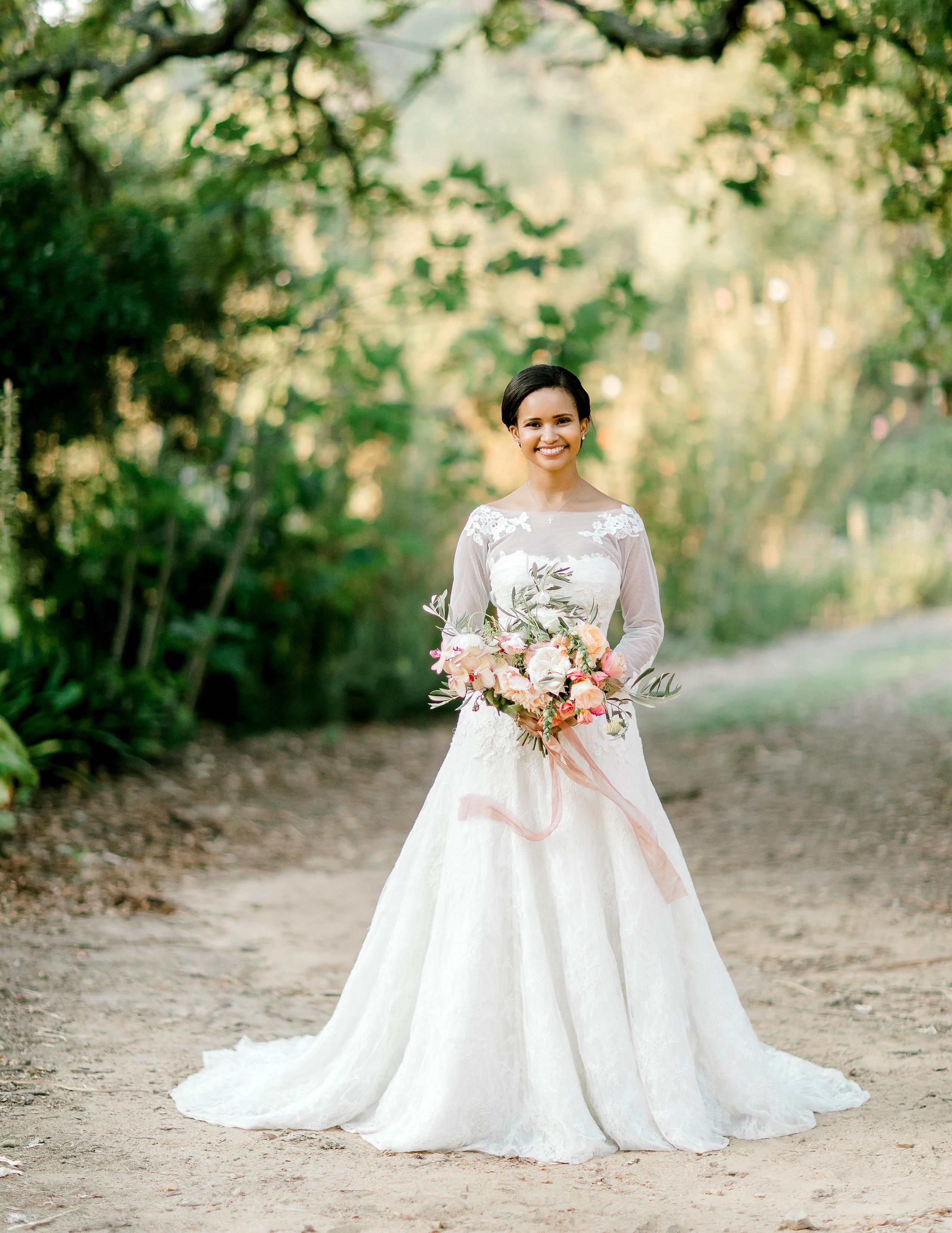 rorisang stephen wedding bride in wedding dress