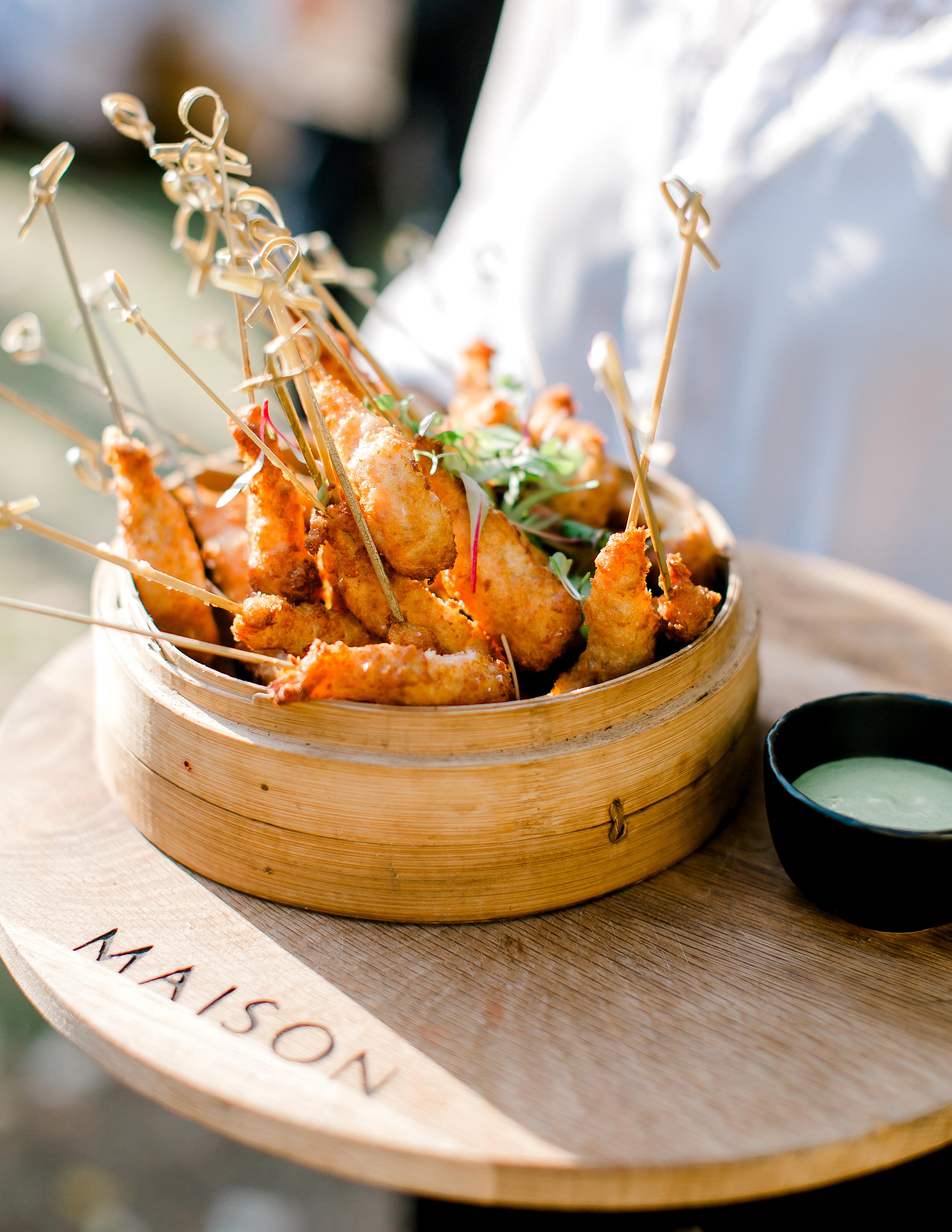 rorisang stephen wedding food prawns