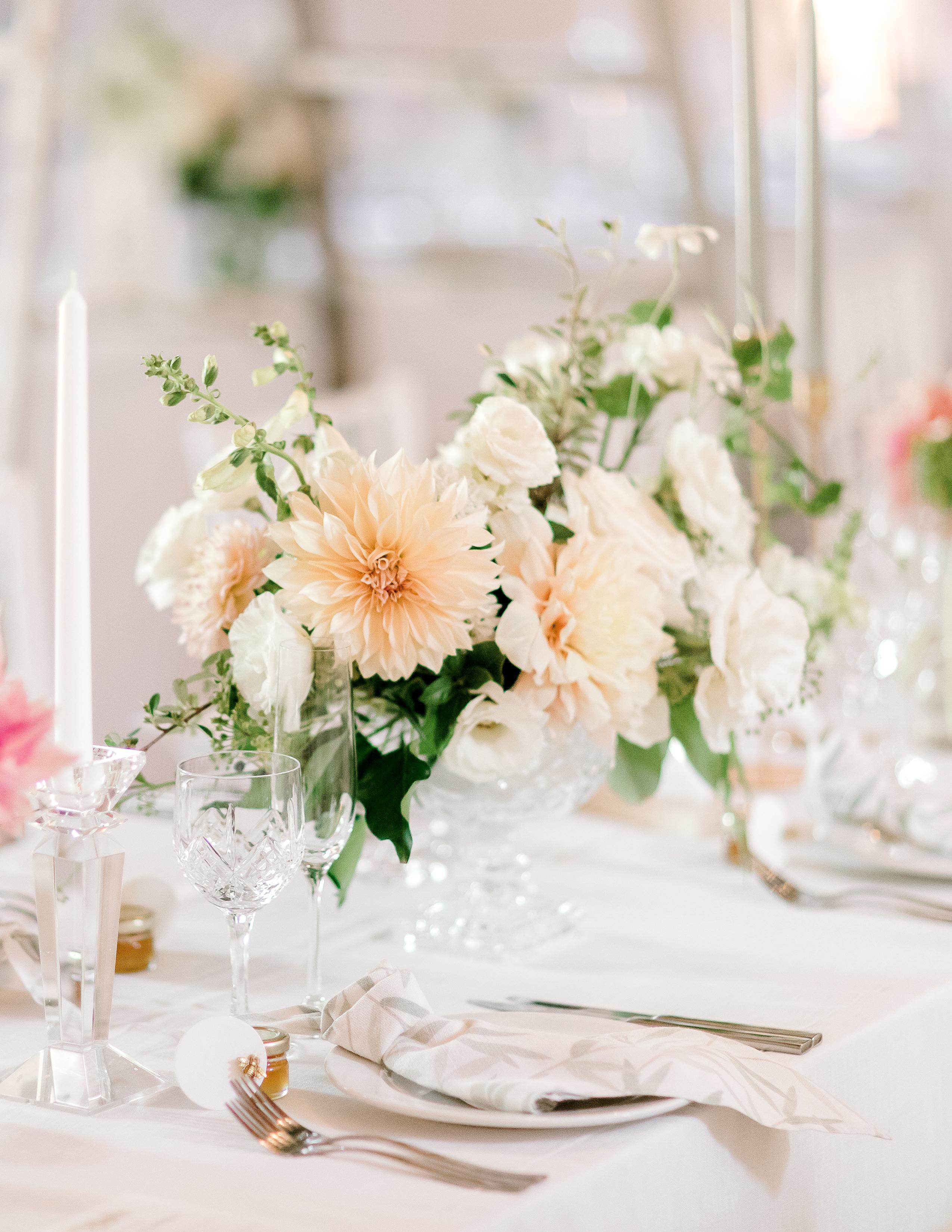 rorisang stephen wedding reception centerpiece
