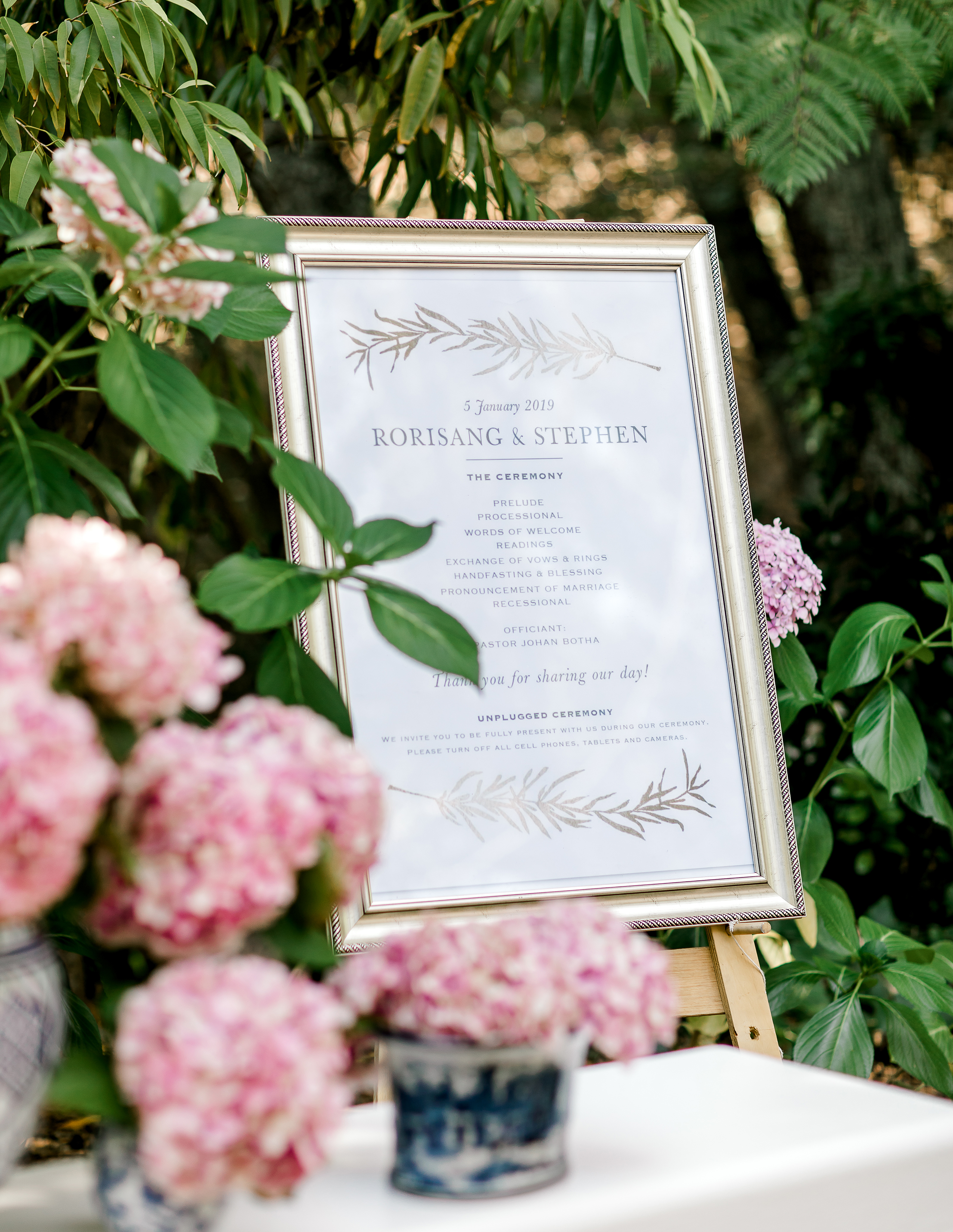 rorisang stephen wedding sign
