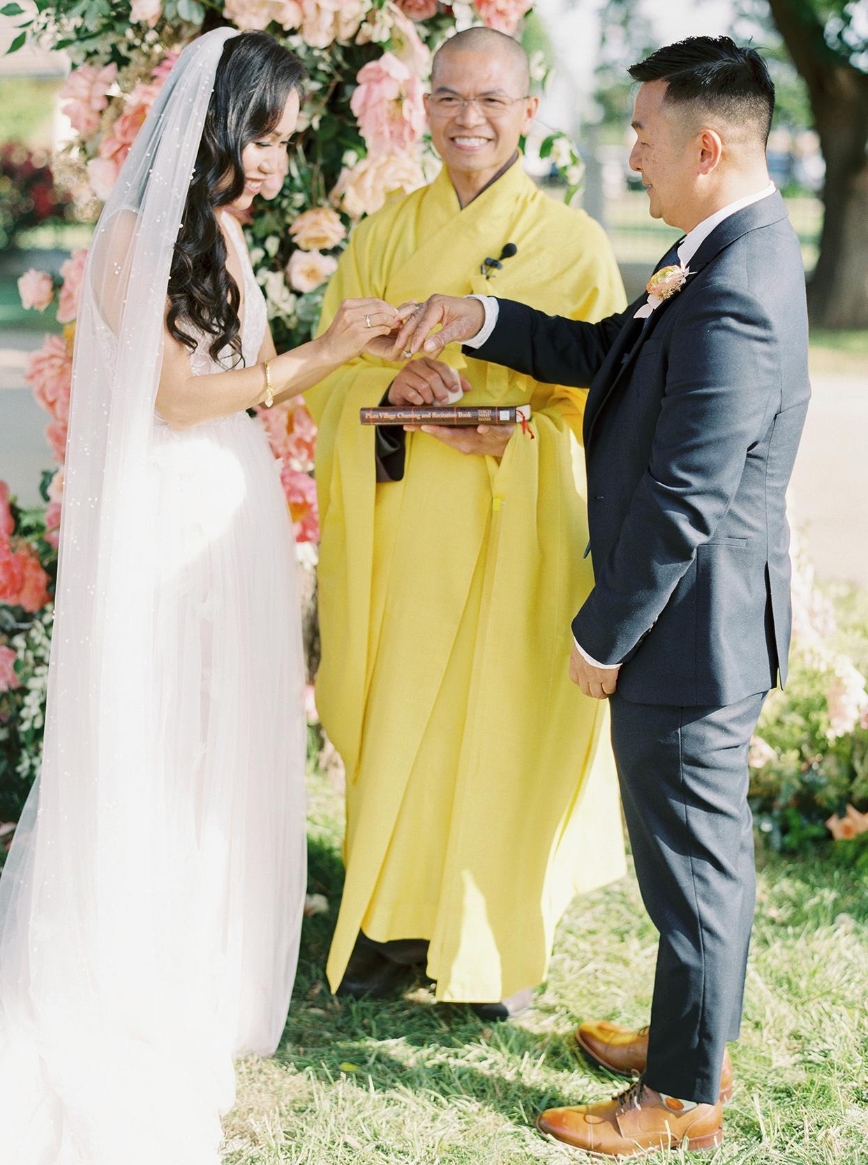 thuy kahn wedding ceremony ring exchange