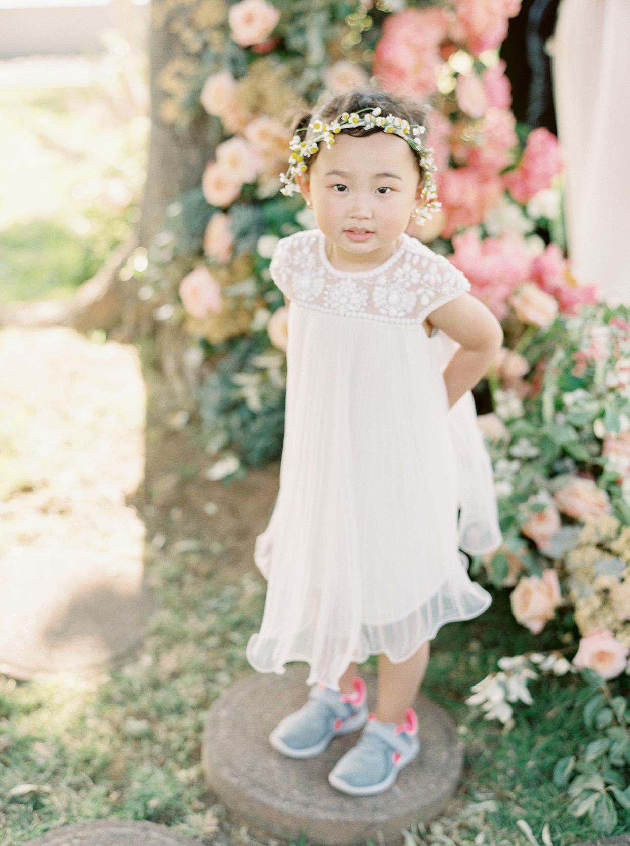 thuy kahn wedding flower girl