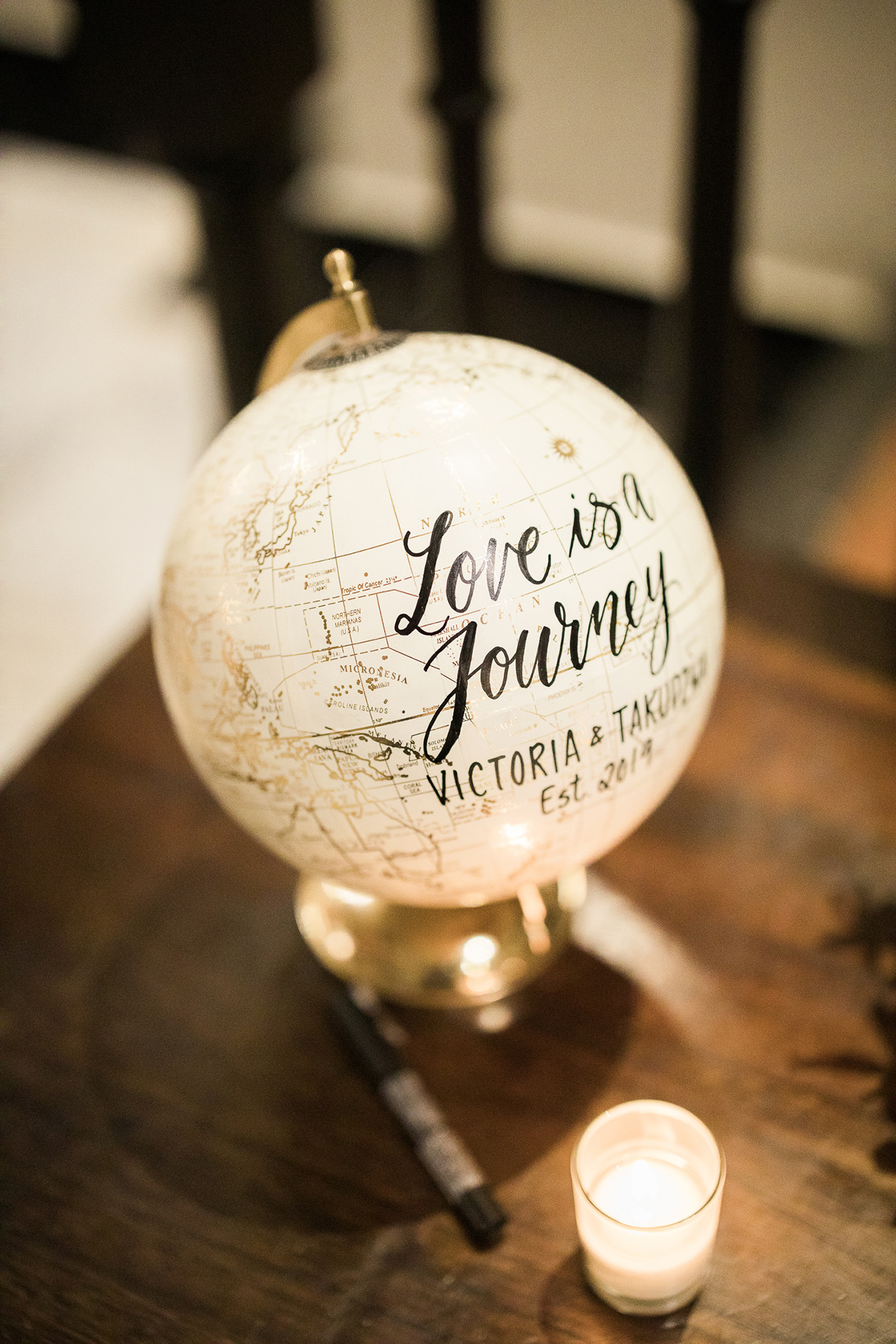 victoria tk wedding guest book globe