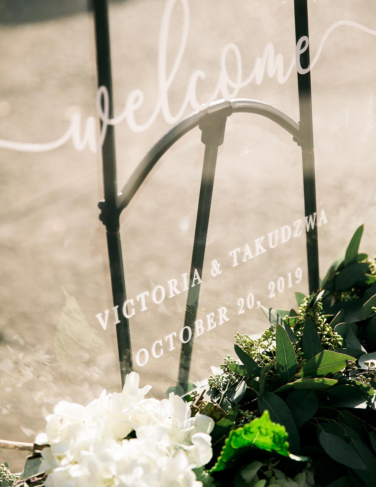 victoria tk wedding glass sign