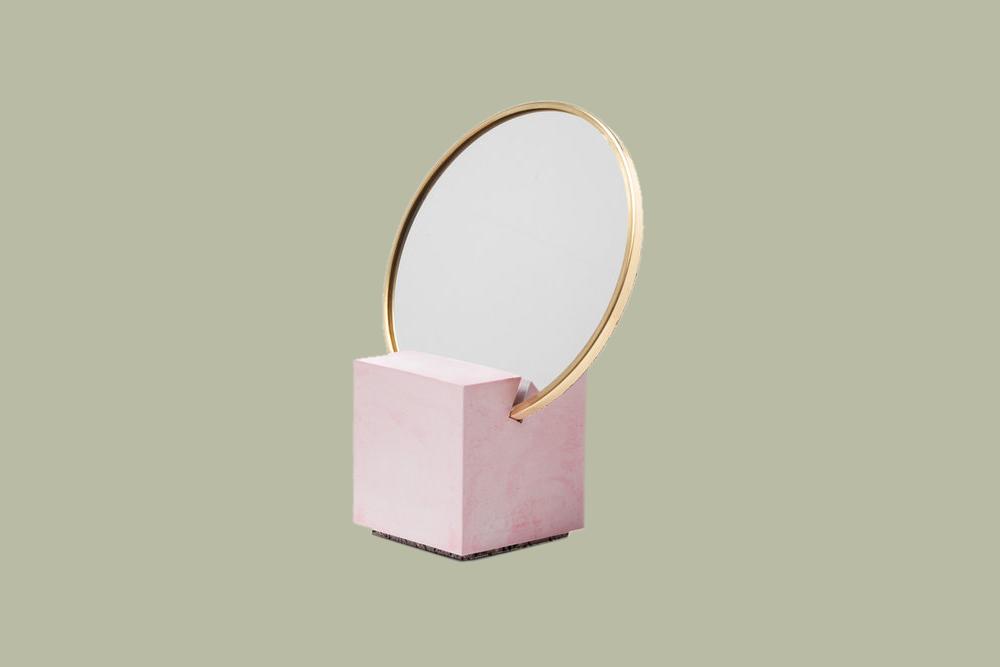 small round mirror gift