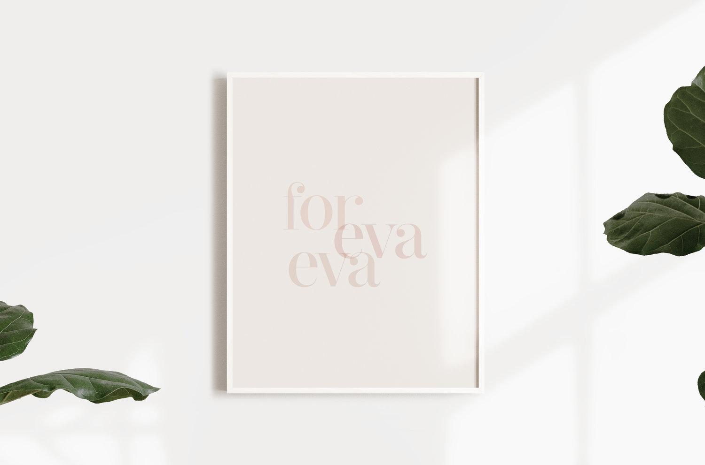 for eva eva print frame gift